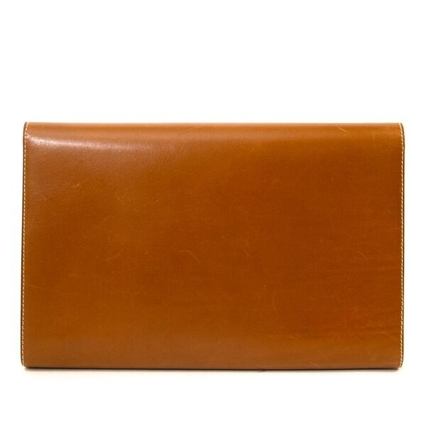 Delvaux Leather Camel Vintage Clutch