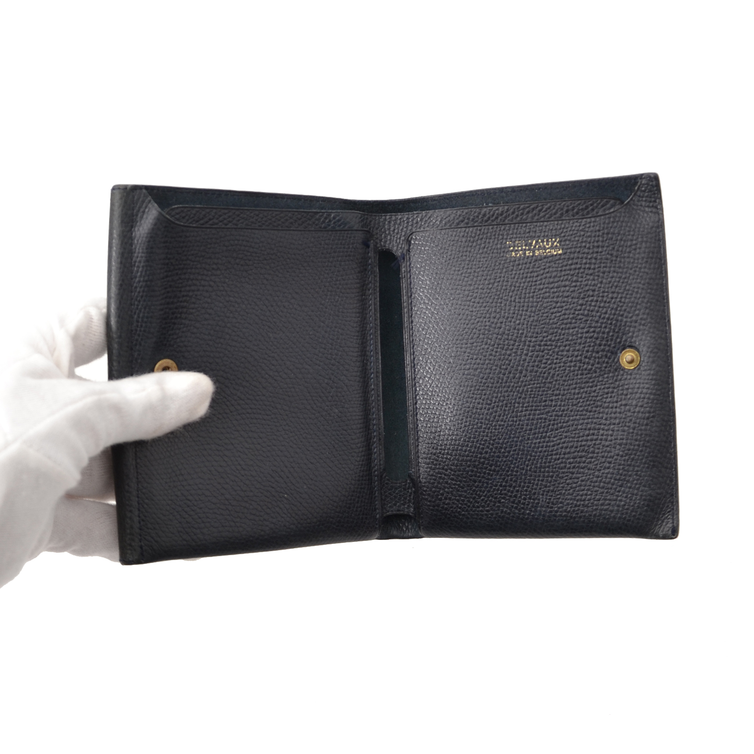Acheter en ligne chez Labellov.com Delvaux Dark Blue Wallet