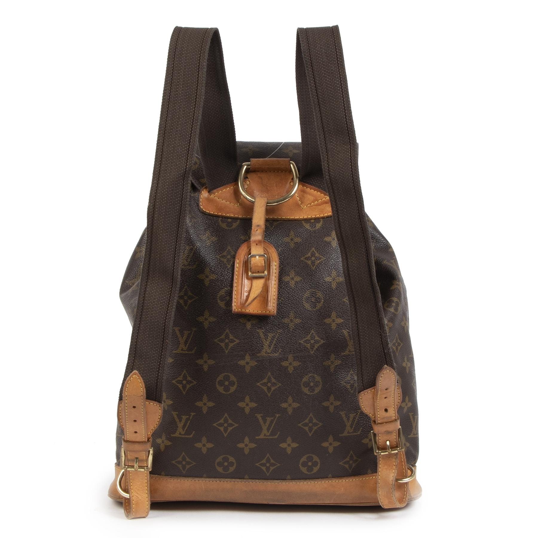 Authentieke Tweedehands Louis Vuitton Monogram Montsouris GM Backpack juiste prijs veilig online shoppen luxe merken webshop winkelen Antwerpen België mode fashion