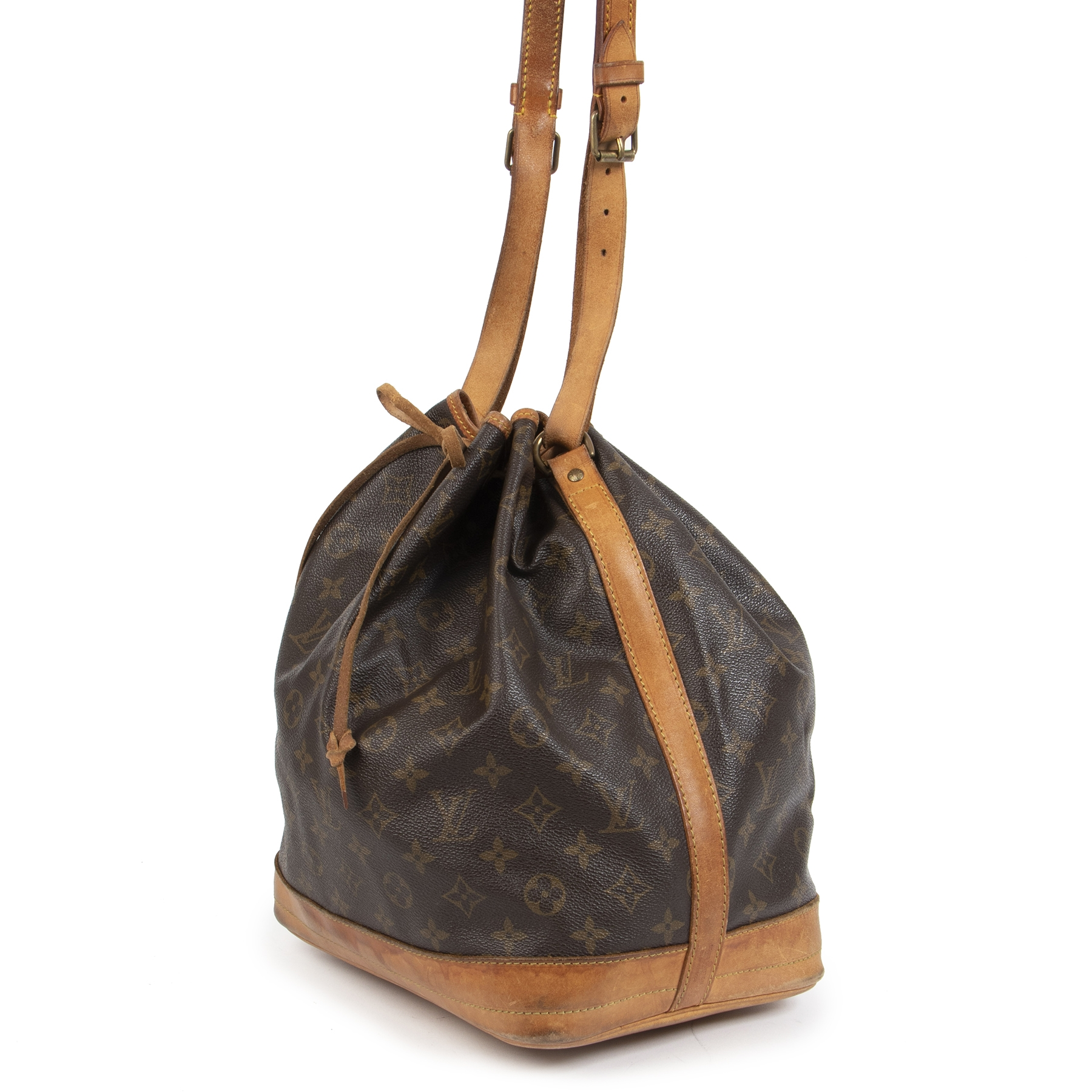 Authentieke Tweedehands Louis Vuitton Monogram Noé Bucket Bag juiste prijs veilig online shoppen luxe merken webshop winkelen Antwerpen België mode fashion