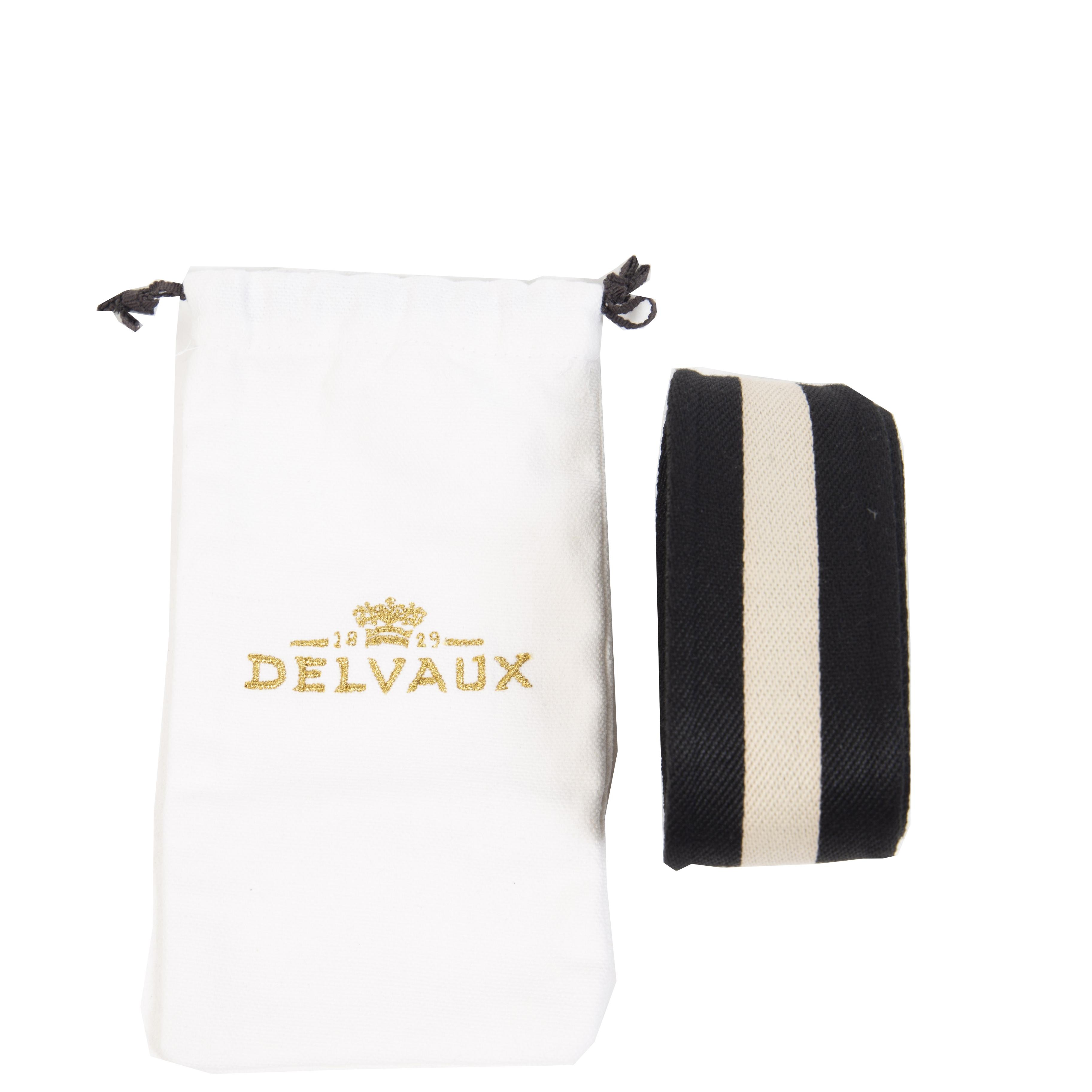 Authentieke Tweedehands Delvaux Black & White Bag Shoulder Strap juiste prijs veilig online shoppen luxe merken webshop winkelen Antwerpen België mode fashion