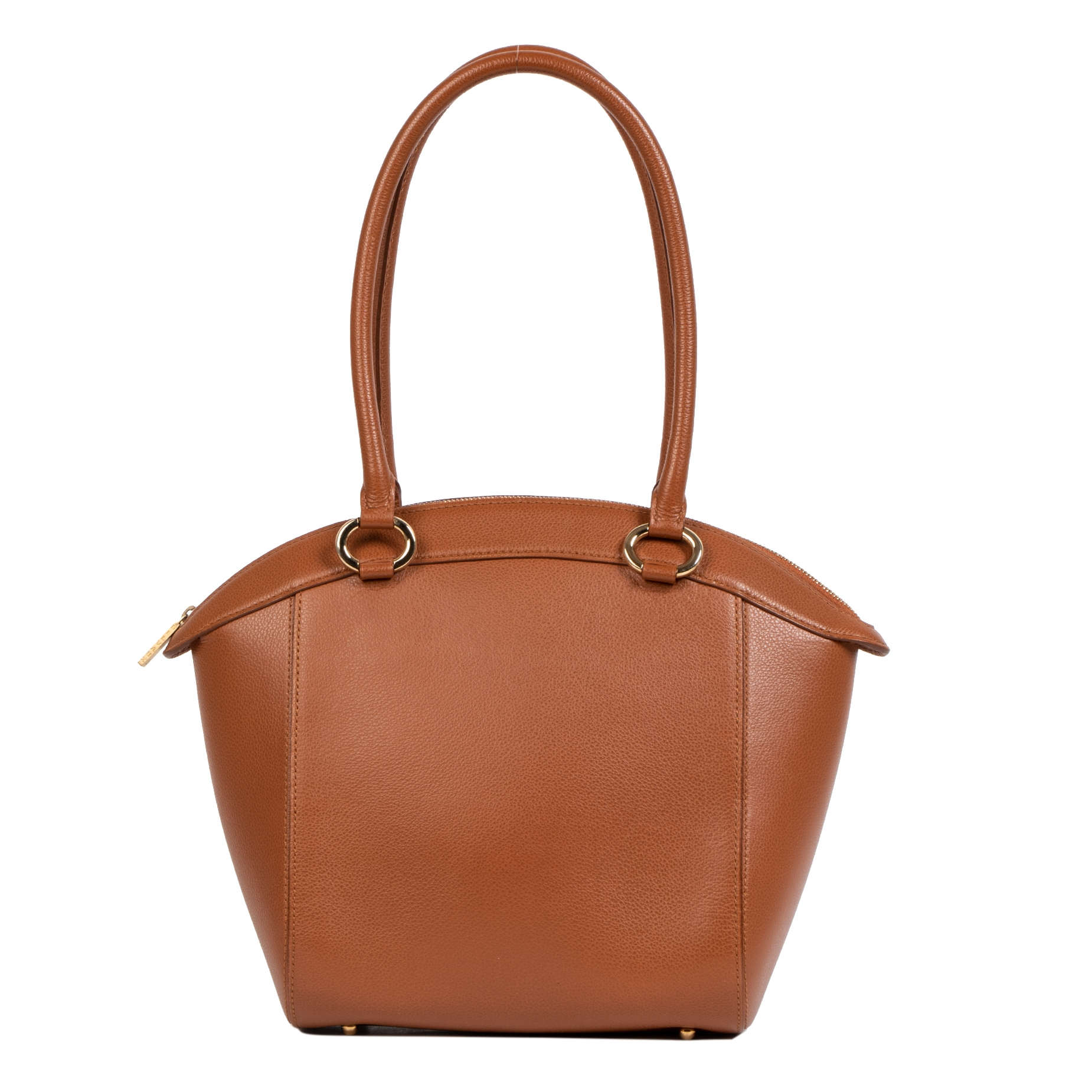 Authentieke tweedehands vintage Delvaux Camel Charme Shoulder Bag koop online webshop LabelLOV