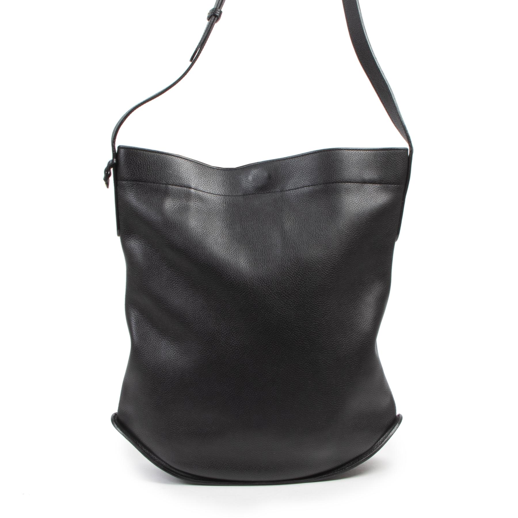Authentique seconde-main vintage Delvaux Black Le Pin Shoulder Bag achète en ligne webshop LabelLOV