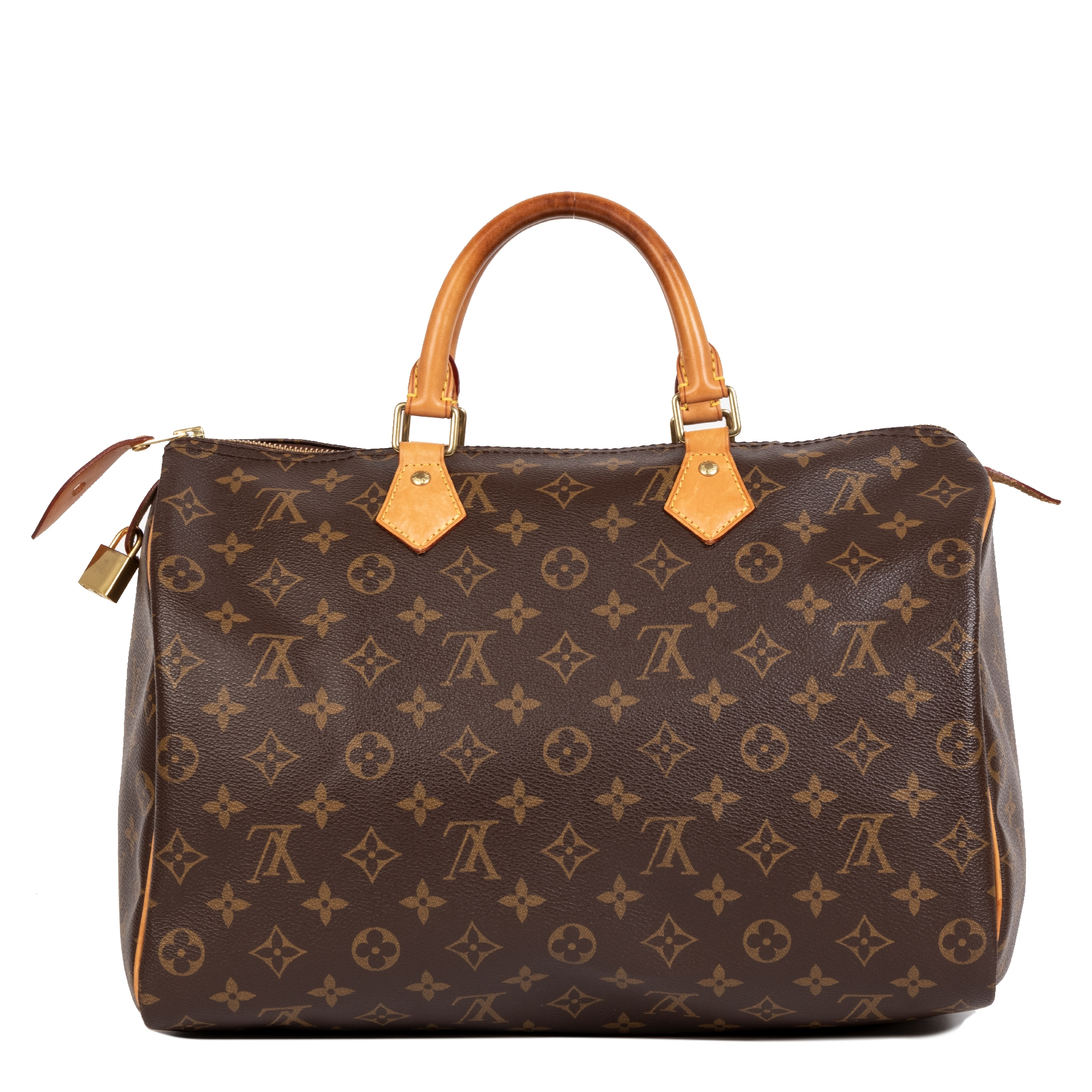 Authentique seconde-main vintage Louis Vuitton Monogram Speedy 35 Bag achète en ligne webshop LabelLOV