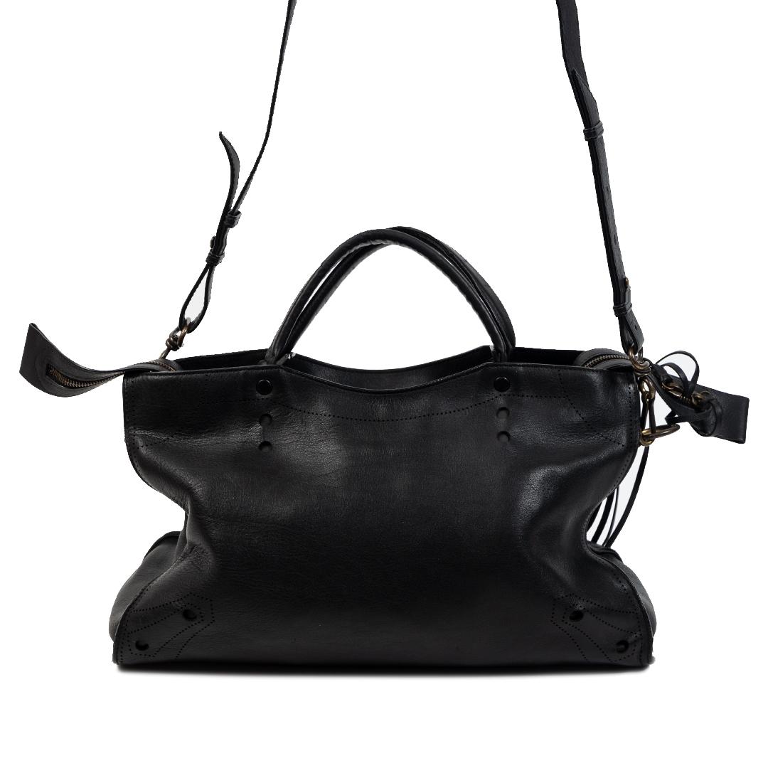 Authentieke Tweedehands Balenciaga Blackout AJ City Bag juiste prijs veilig online shoppen luxe merken webshop winkelen Antwerpen België mode fashion