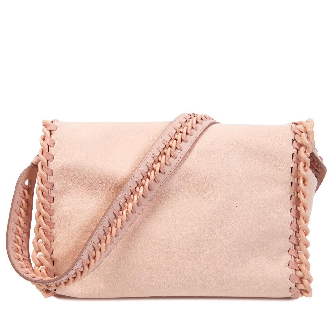 Authentieke Tweedehands Stella McCartney Falabella Pastel Pink Shoulder Bag juiste prijs veilig online shoppen luxe merken webshop winkelen Antwerpen België mode fashion