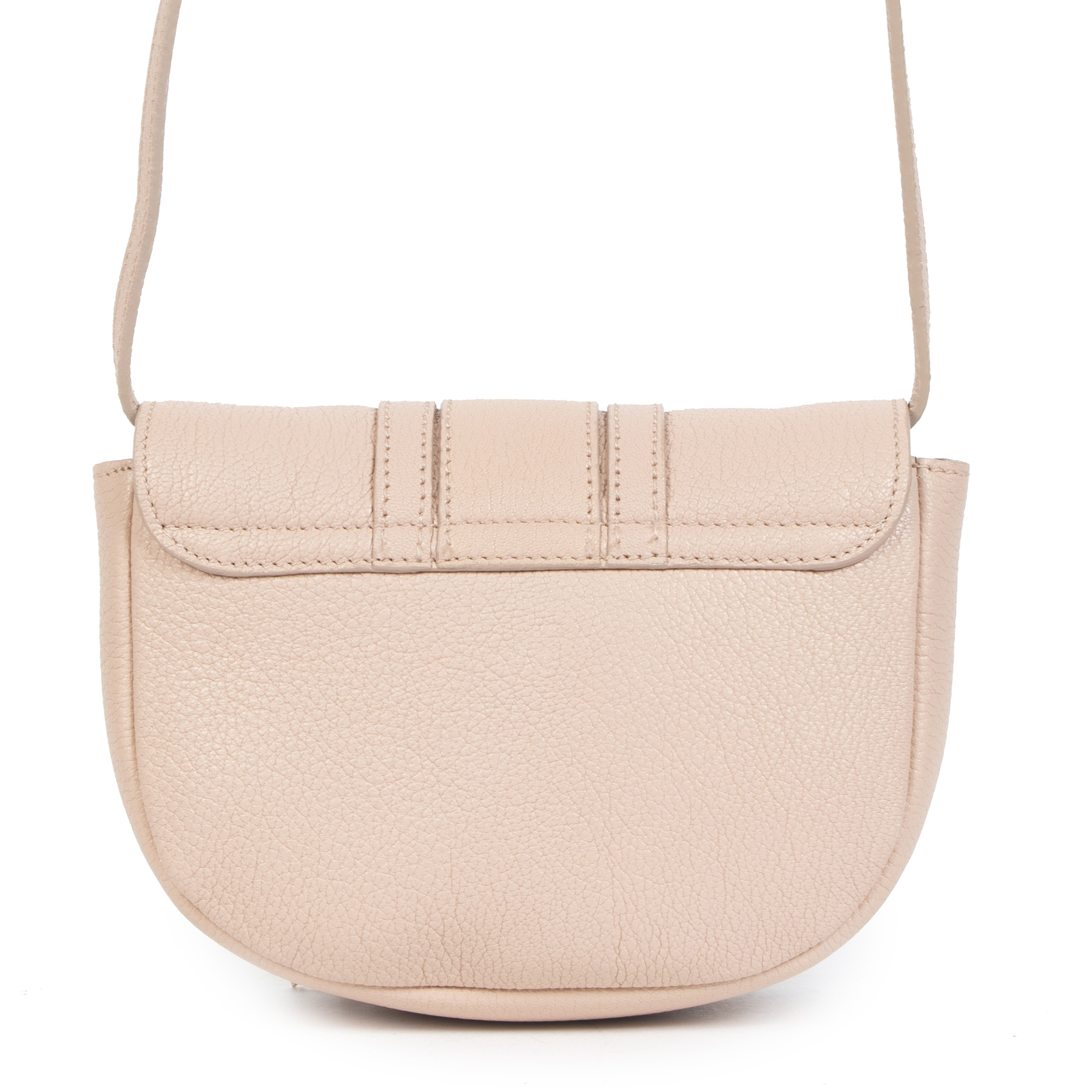 Authentic secondhand Chloé Powder Pink Mini Leather Crossbody Bag designer bags designer brands fashion luxury vintage webshop safe secure online shopping worldwide shipping delivery