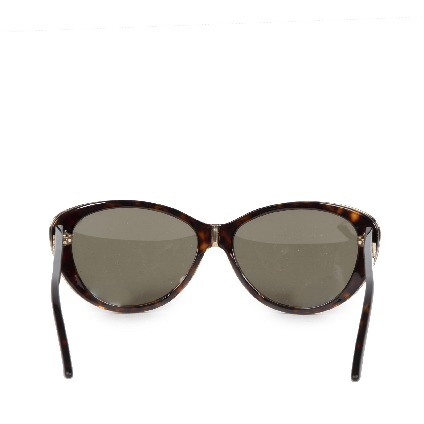 Authentieke Tweedehands Dior Tortoise Oval Sunglasses juiste prijs veilig online shoppen luxe merken webshop winkelen Antwerpen België