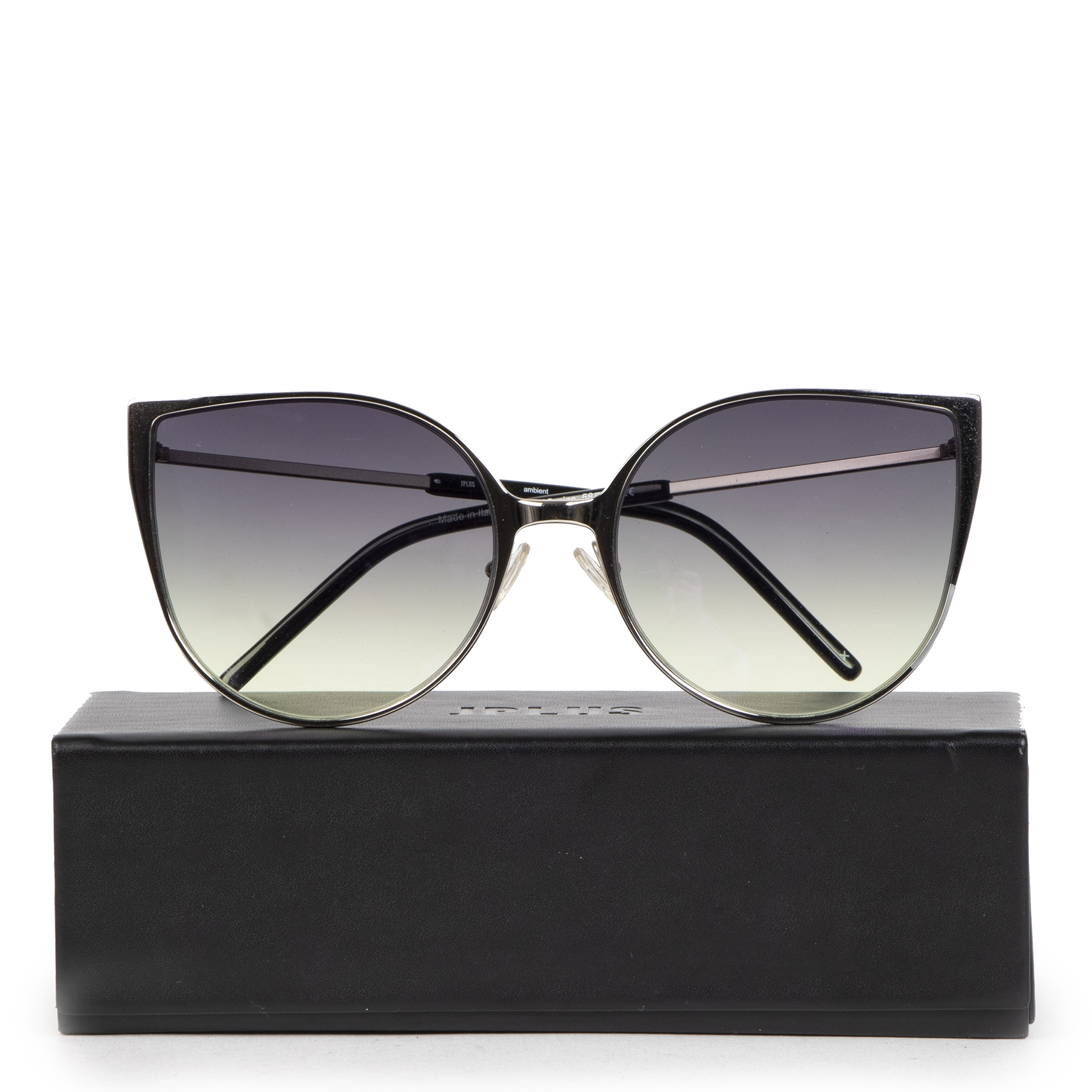Authentic second-hand vintage Jplus Cateye Irridescent Sunglasses buy online webshop LabelLOV