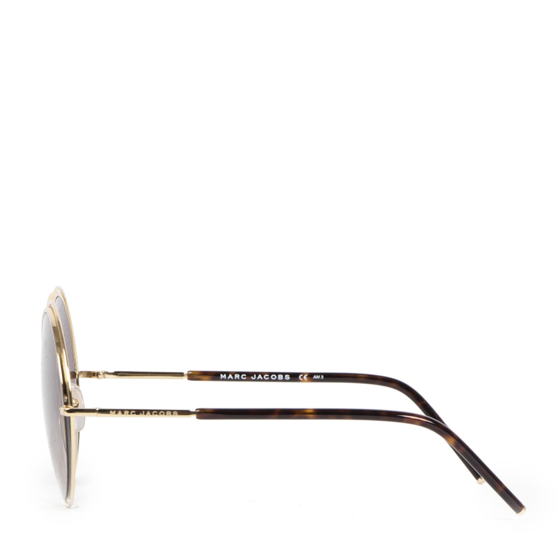 Authentieke Tweedehands Marc Jacobs Marc 11s Round Sunglasses juiste prijs veilig online shoppen luxe merken webshop winkelen Antwerpen België mode fashion
