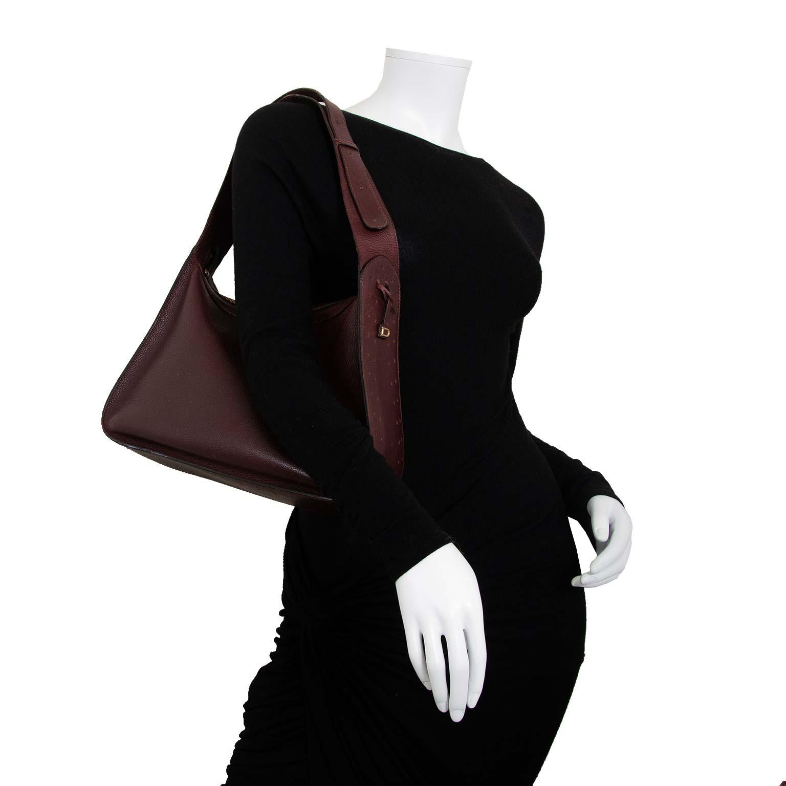 Delvaux Burgundy Pensée Shoulder Bag now for sale at labellov vintage fashion webshop belgium
