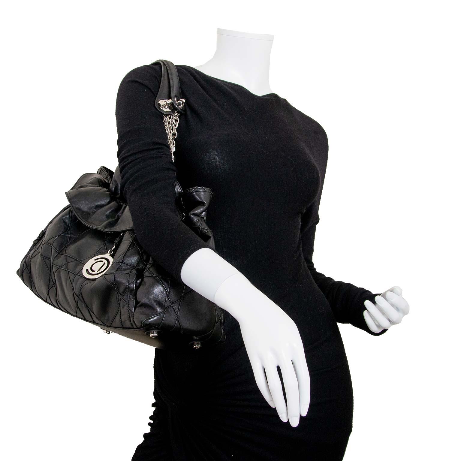 christian dior black le trente bag now for sale at labellov vintage fashion webshop belgium