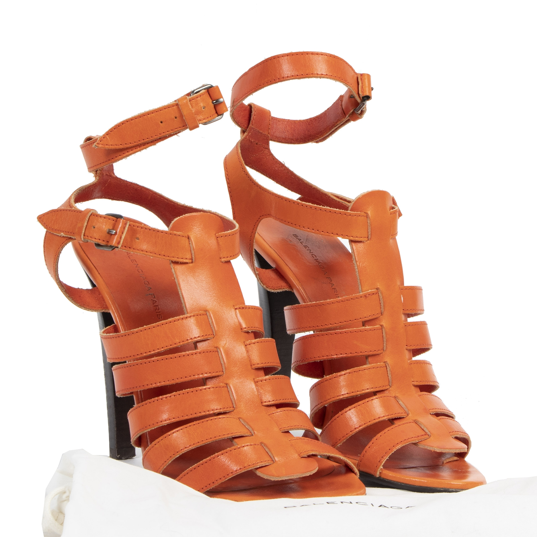 Are you looking for an authentic Balenciaga Gladiator Orange Sandals