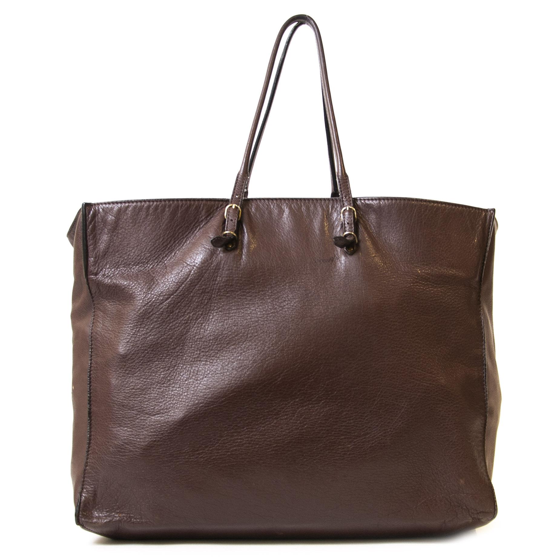 Authentieke Tweedehands Balenciaga Burgundy Leather Papier Bag PM juiste prijs veilig online shoppen luxe merken webshop mode fashion winkelen Antwerpen België
