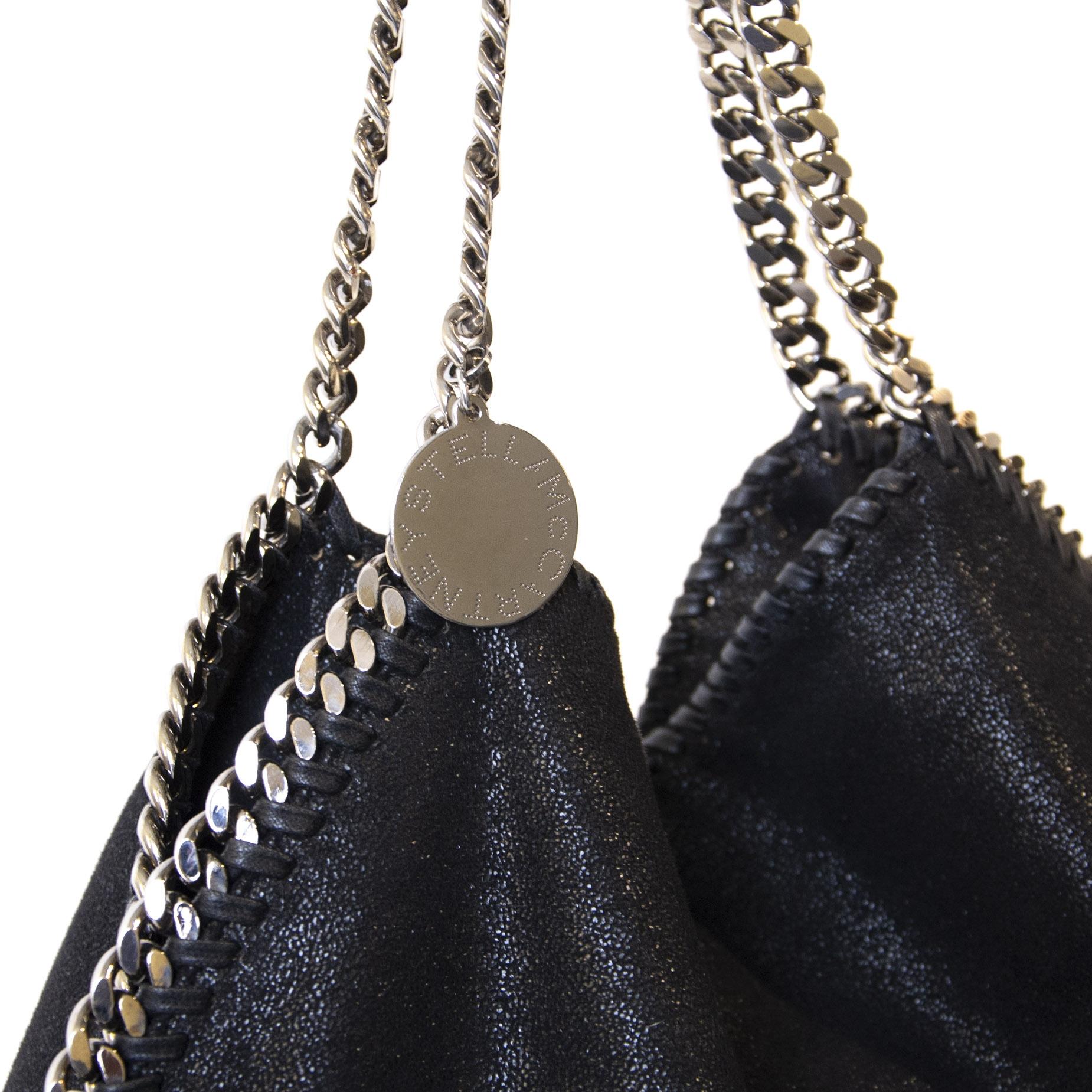Authentieke Tweedehands Stella McCartney Falabella Large Tote Bag juiste prijs veilig online shoppen luxe merken webshop winkelen Antwerpen België mode fashion