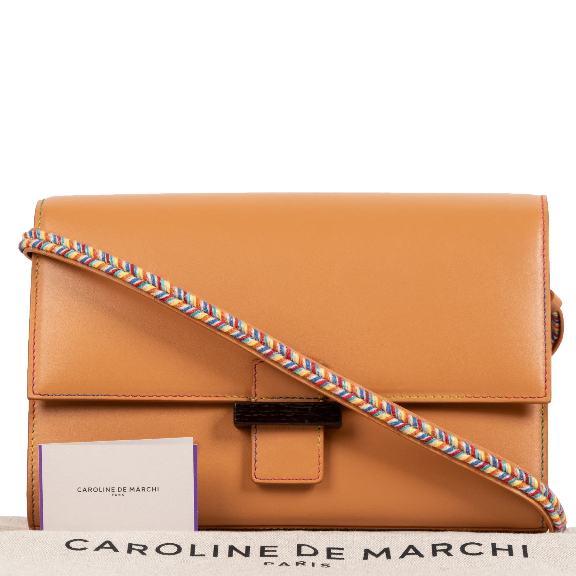 Buy 100% authentic Caroline De Marchi Camel Leather Shoulder Bag for the best price
