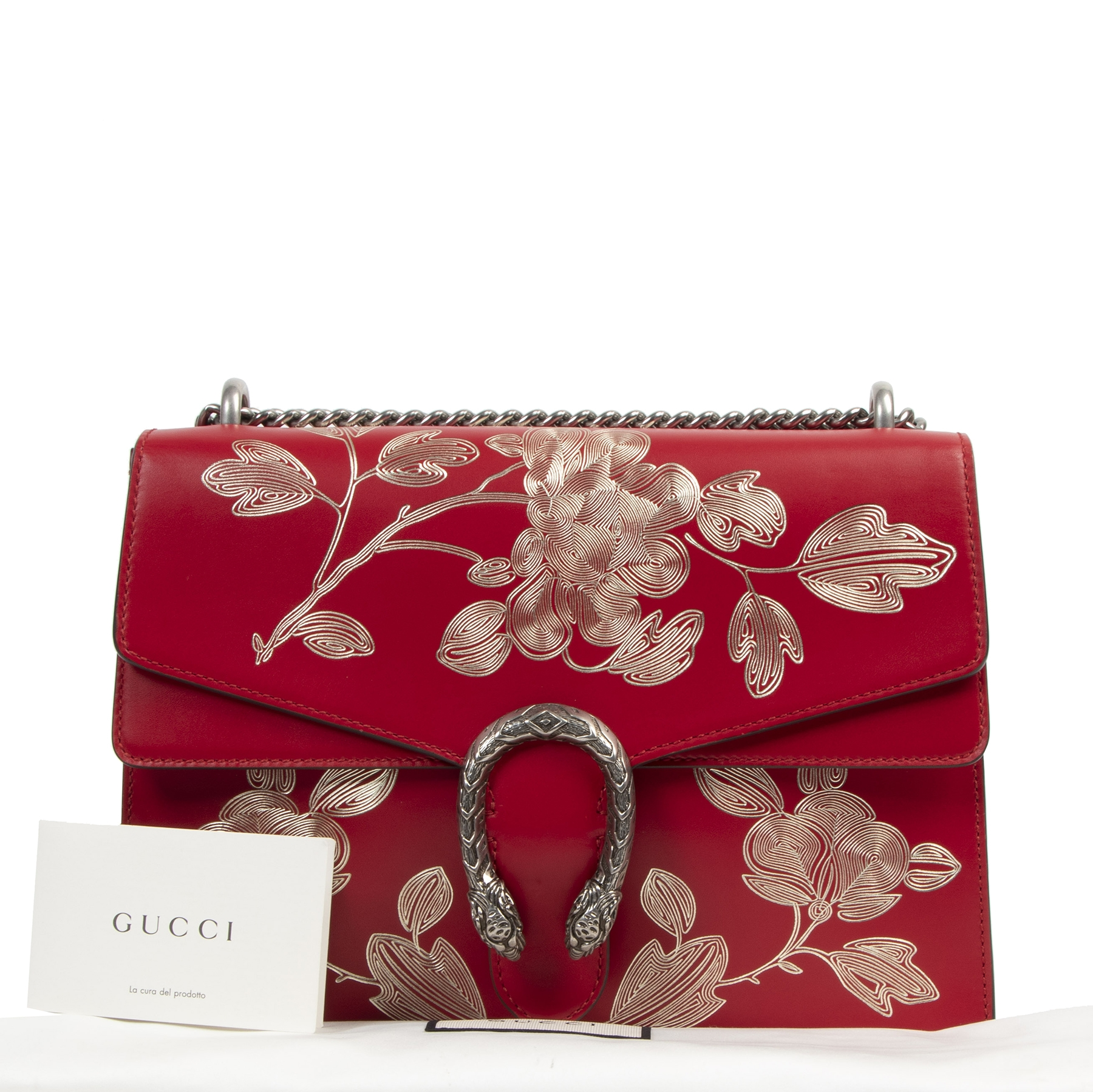 Authentic second-hand vintage Gucci Chinese New Year Hibiscus Red Dionysus Special Edition buy online webshop LabelLOV