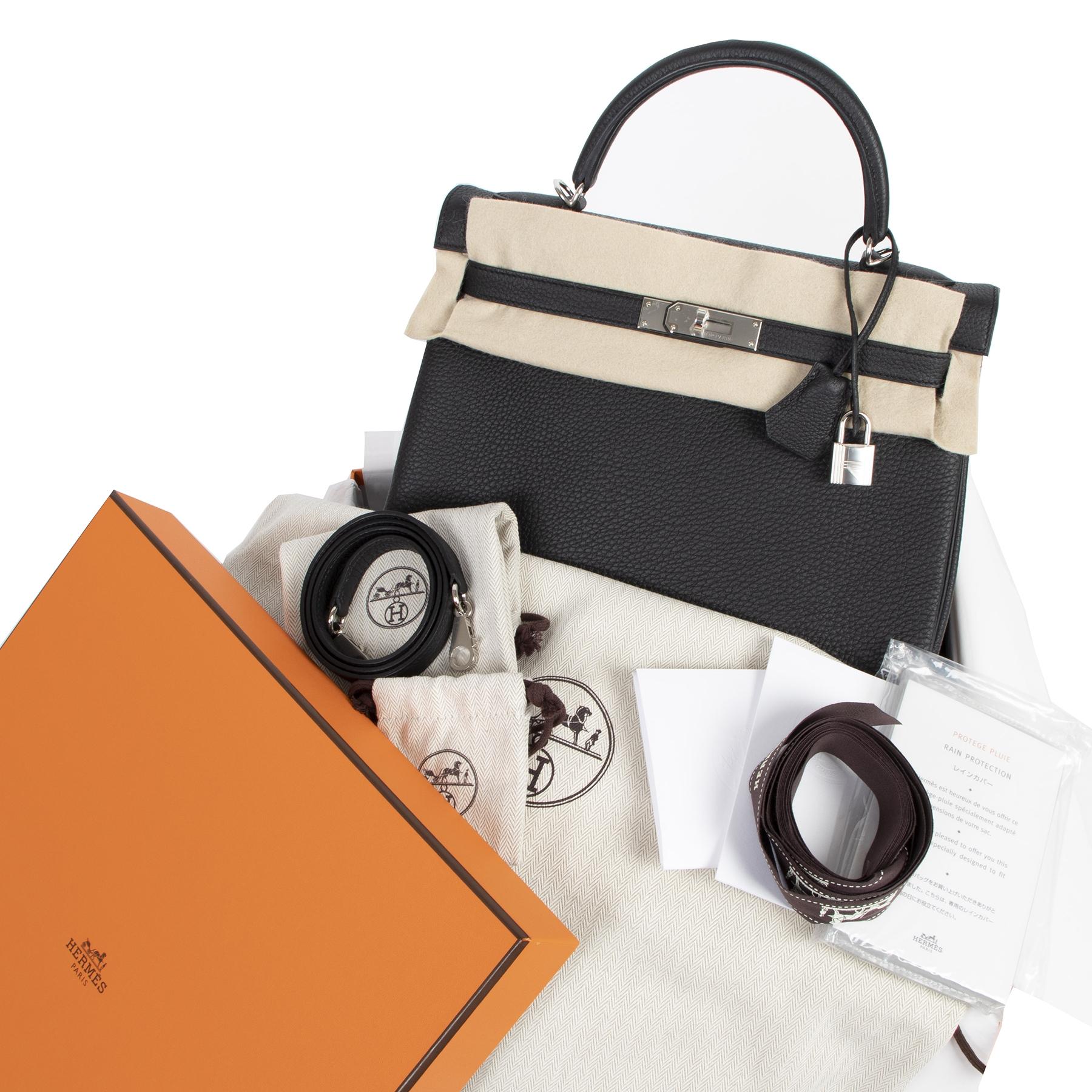 Hermès Kelly 32 Black Togo PHW pour le meilleur prix chez Labellov à Anvers