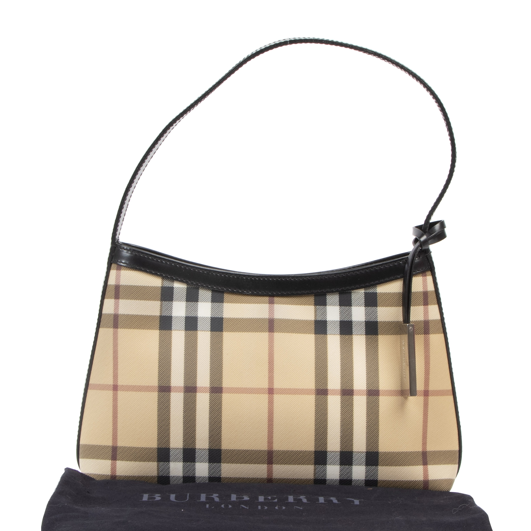 Authentieke tweedehands vintage Burberry Nova Check Small Shoulder Bag koop online webshop LabelLOV