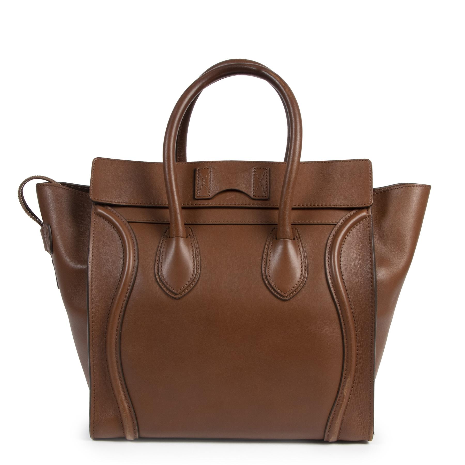 Céline Cognac Mini Luggage Tote