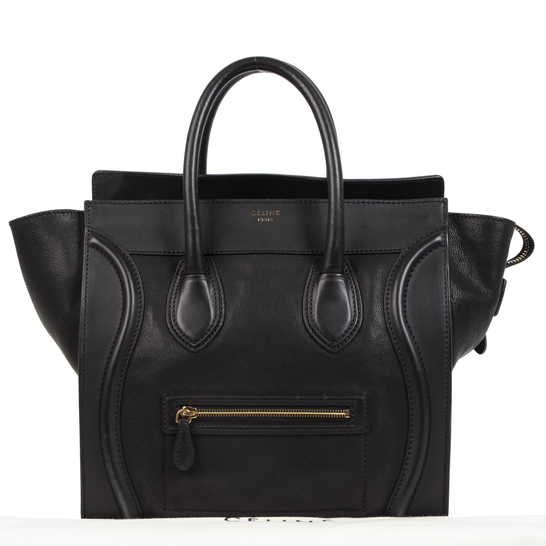 Céline Black Calfskin Mini Luggage Handbag kopen en verkopen aan de beste prijs bij Labellov tweedehands luxe