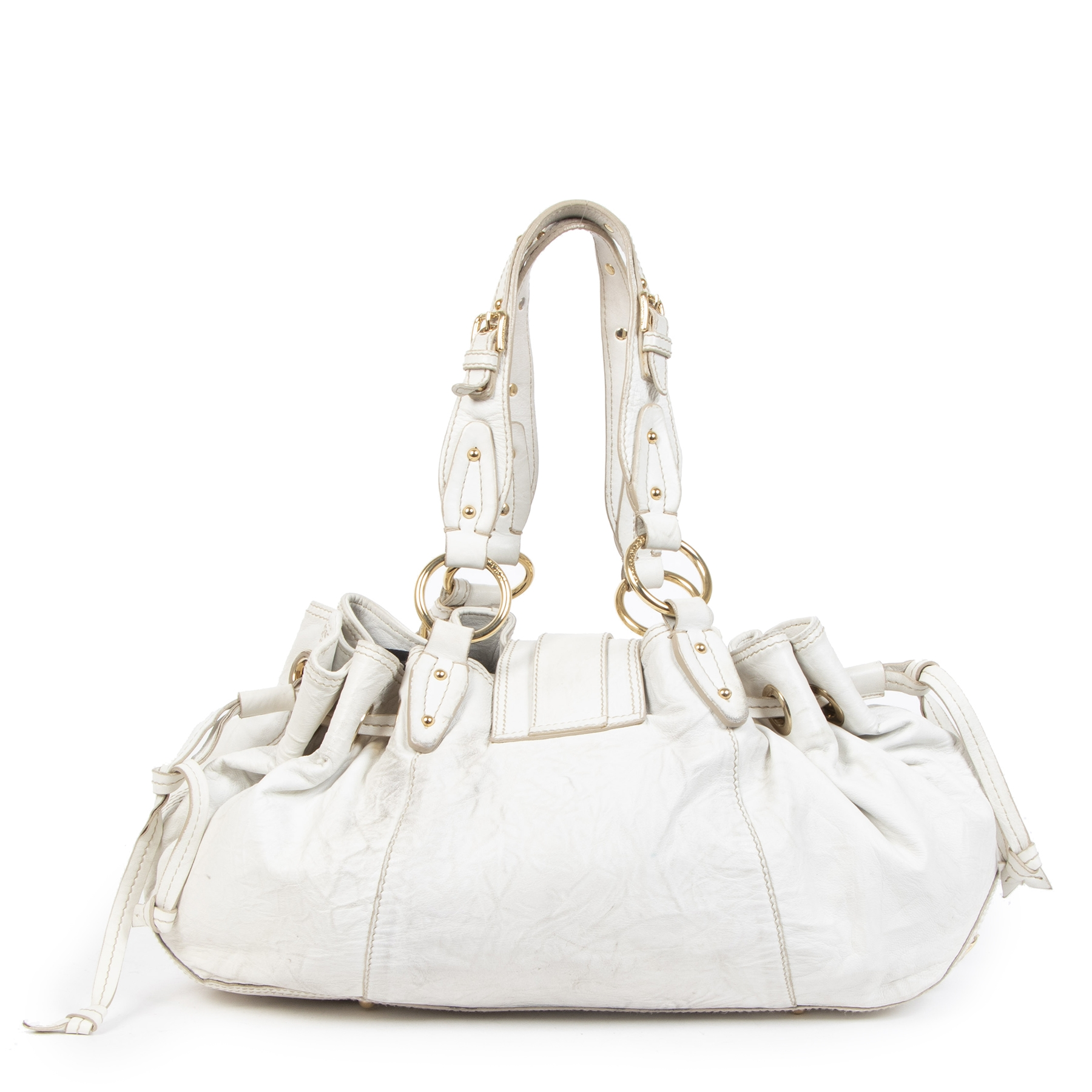 Authentique seconde-main vintage Dolce & Gabbana White Shoulder Bag achète en ligne webshop LabelLOV