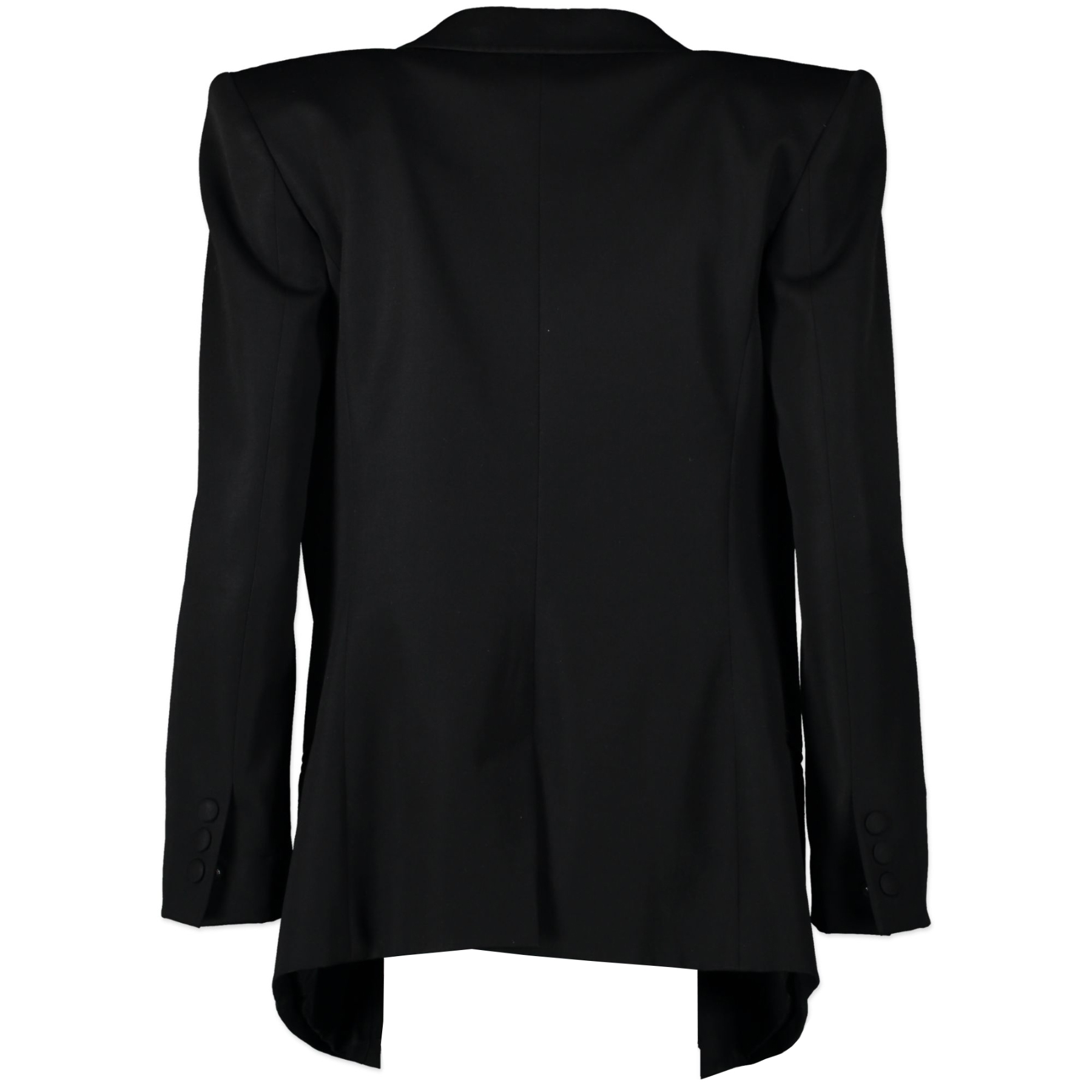 Authentic secondhand Balmain Black Blazer with Silver Brooch - Size 38 designer clothing fashion luxury vintage webshop safe secure online shopping