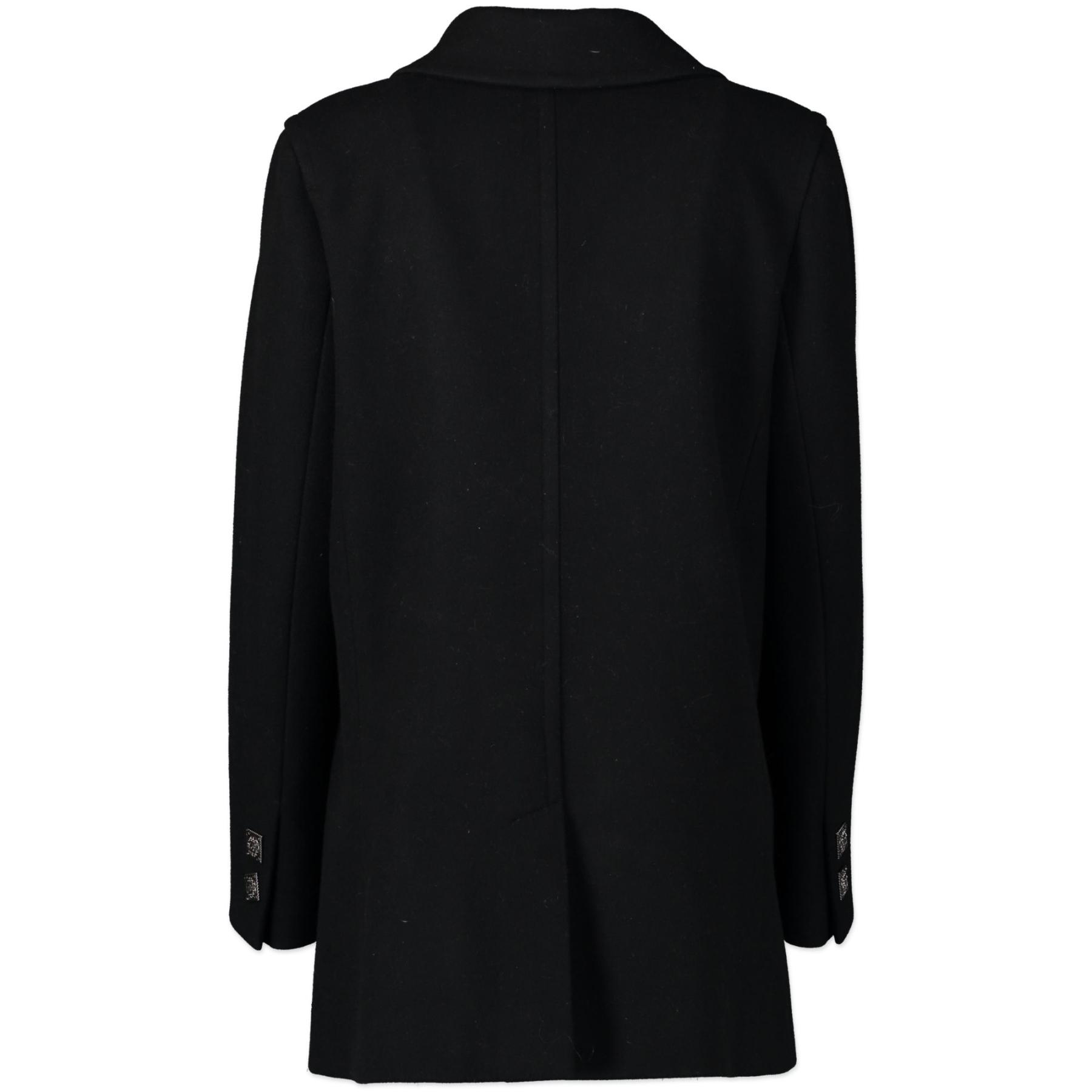 Chanel Black Wool Coat pour le meilleur prix chez Labellov à Anvers