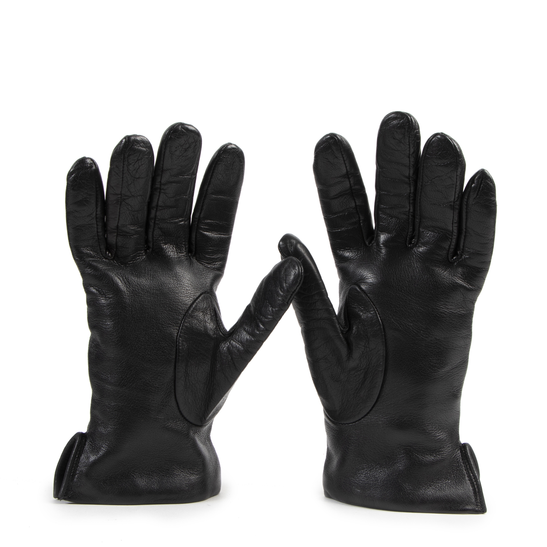 Authentic secondhand Fratelli Rosseti Black Leather Gloves designer accessories fashion luxury vintage webshop safe secure online shopping high end brands