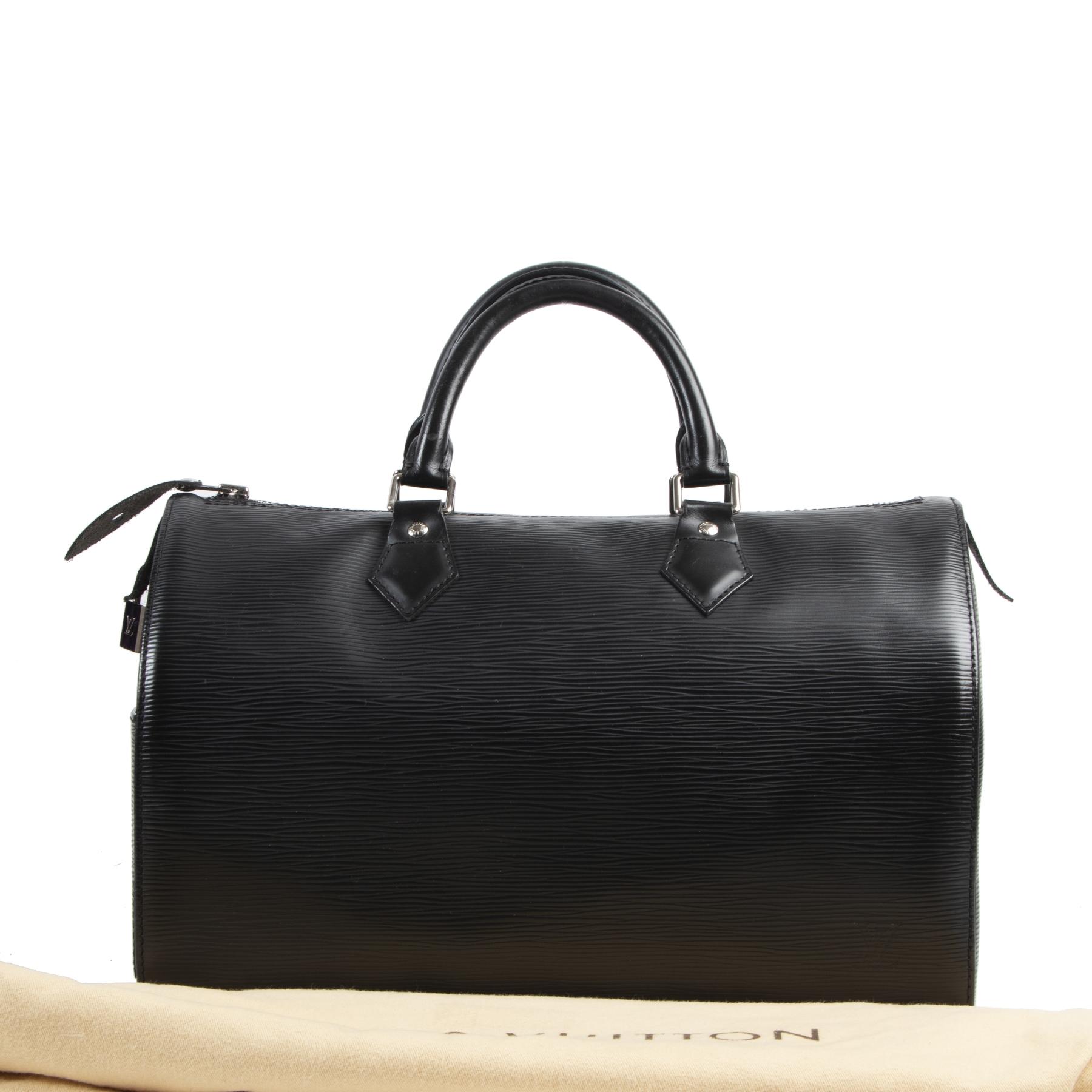 beautiful secondhand Louis Vuitton Black Epi Speedy 35 Bag