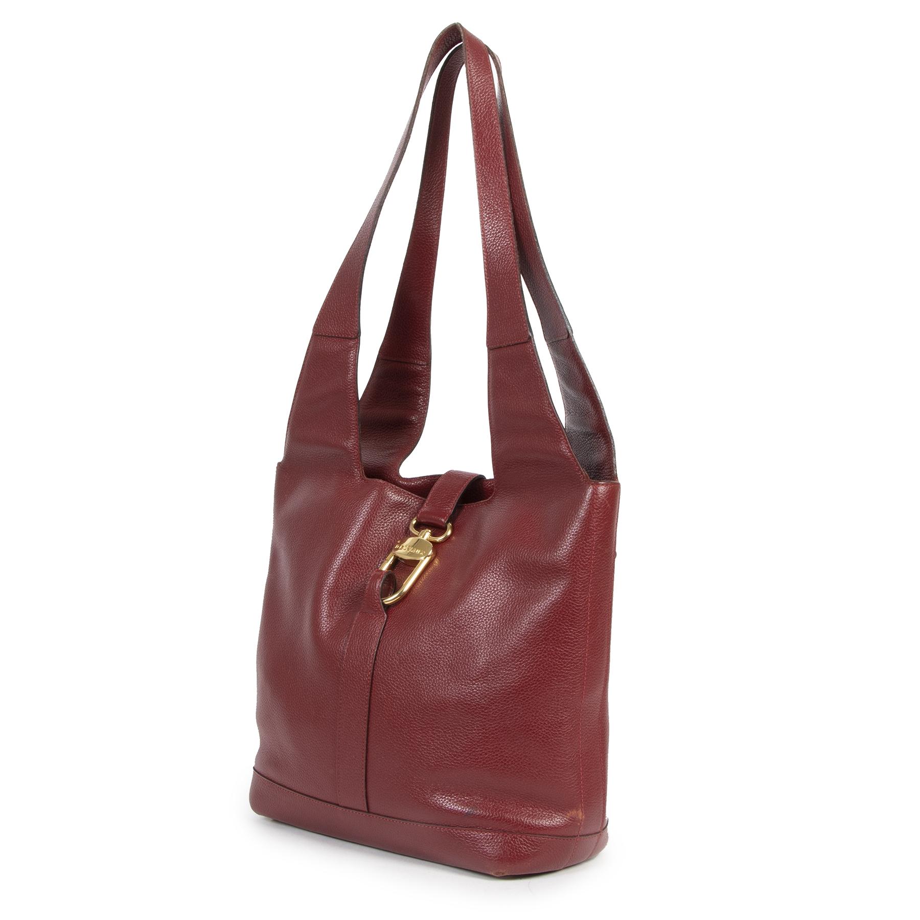 Delvaux Red Tote Shoulder Bag tweedehands aan de juiste prijs in alle veiligheid online bij LabelLOV Antwerpen België