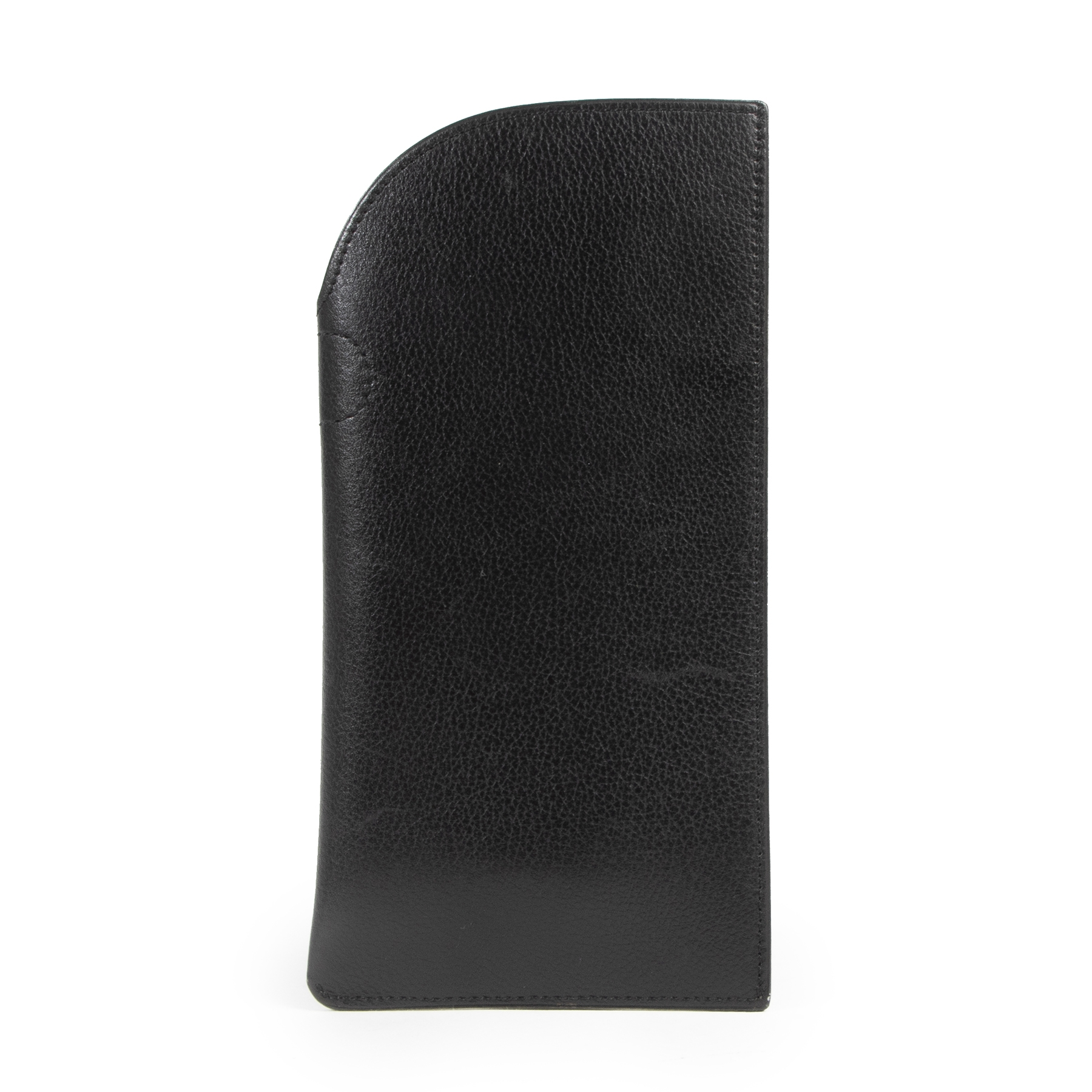 shop safe online Delvaux Black Leather Glasses Case