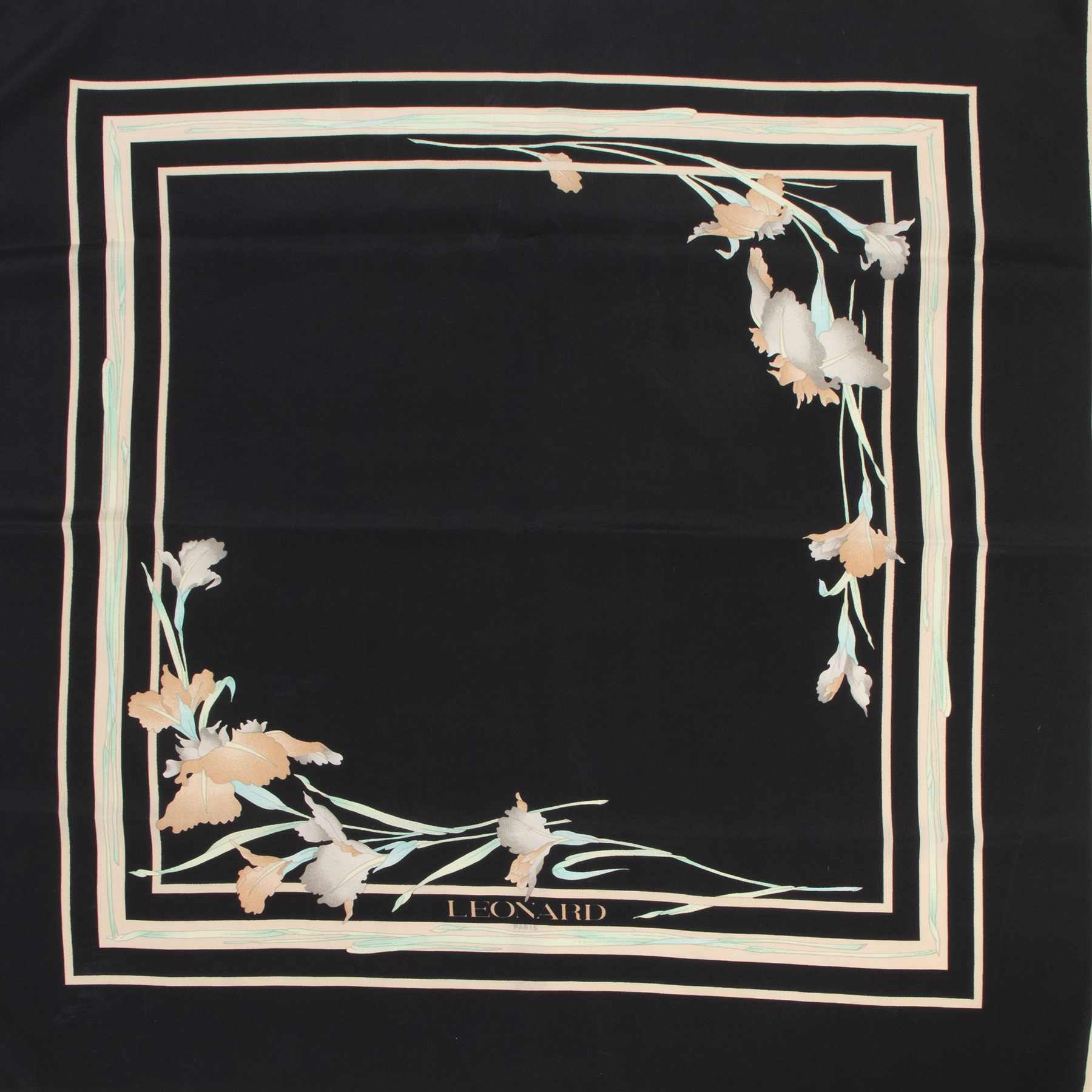 shop safe online Leonard Black Printed Silk Scarf