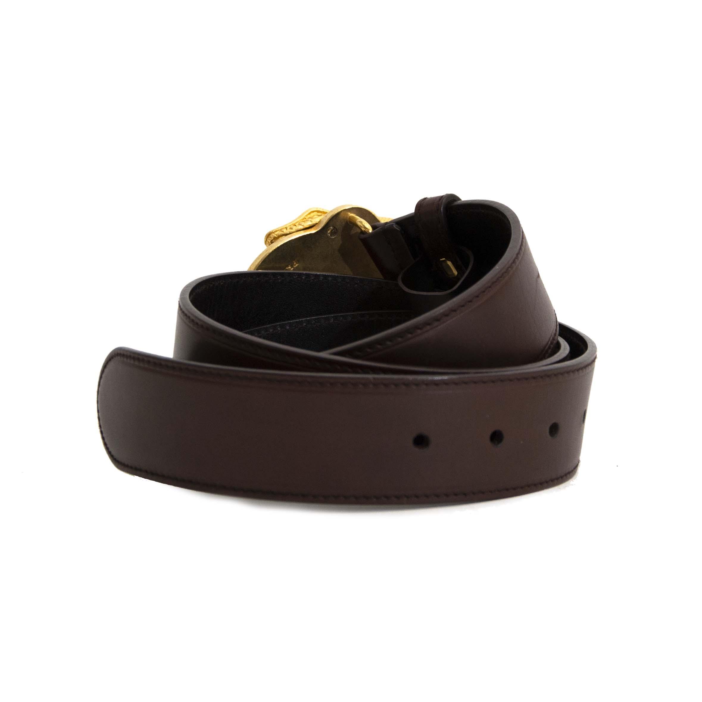 Prada brun fonce en cuir ceinture - taille 90 en ligne chez labellov.com pour le meilleur prix
