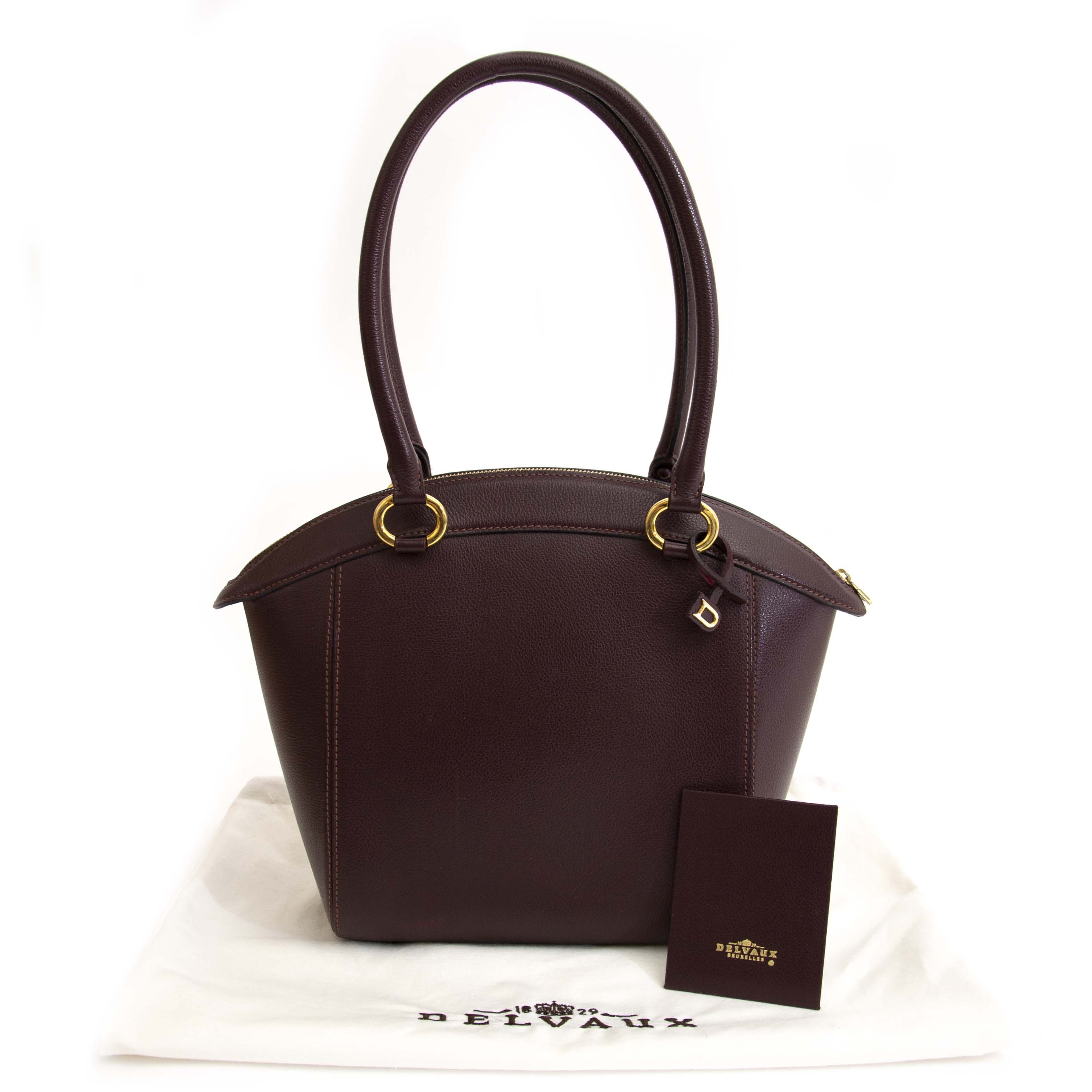 Delvaux Charme Burgundy Top Handle