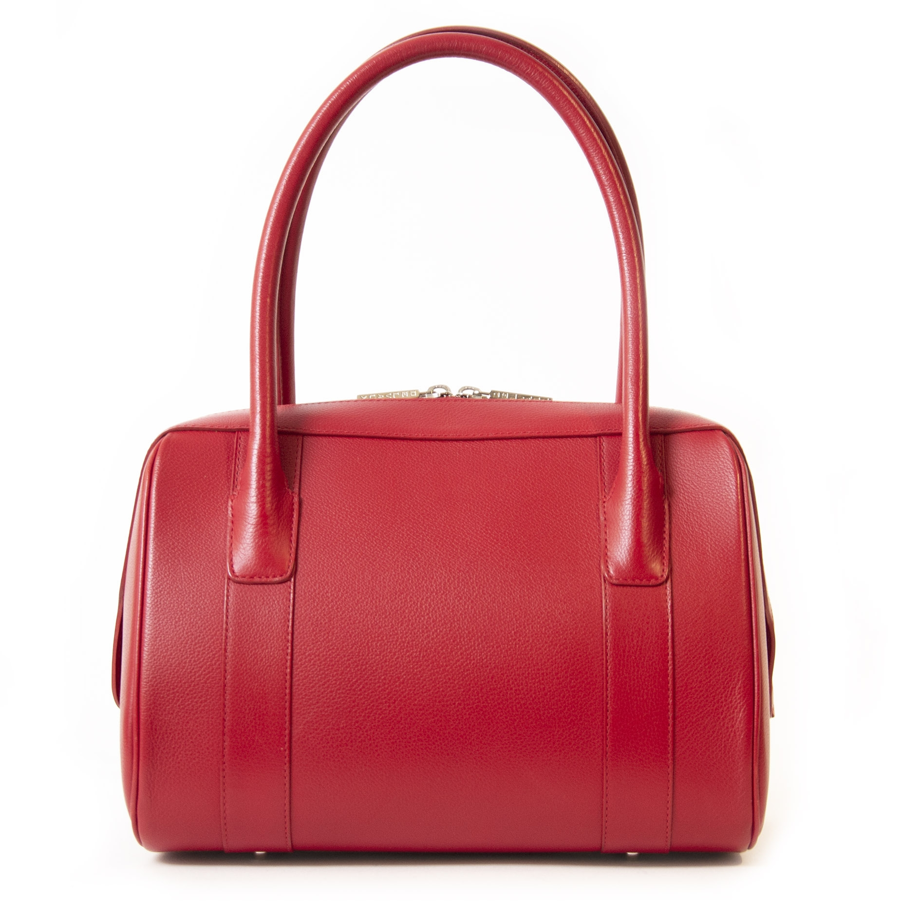 Authentieke tweedehands vintage Delvaux Red Paola Shoulder Bag bij online webshop LabelLOV