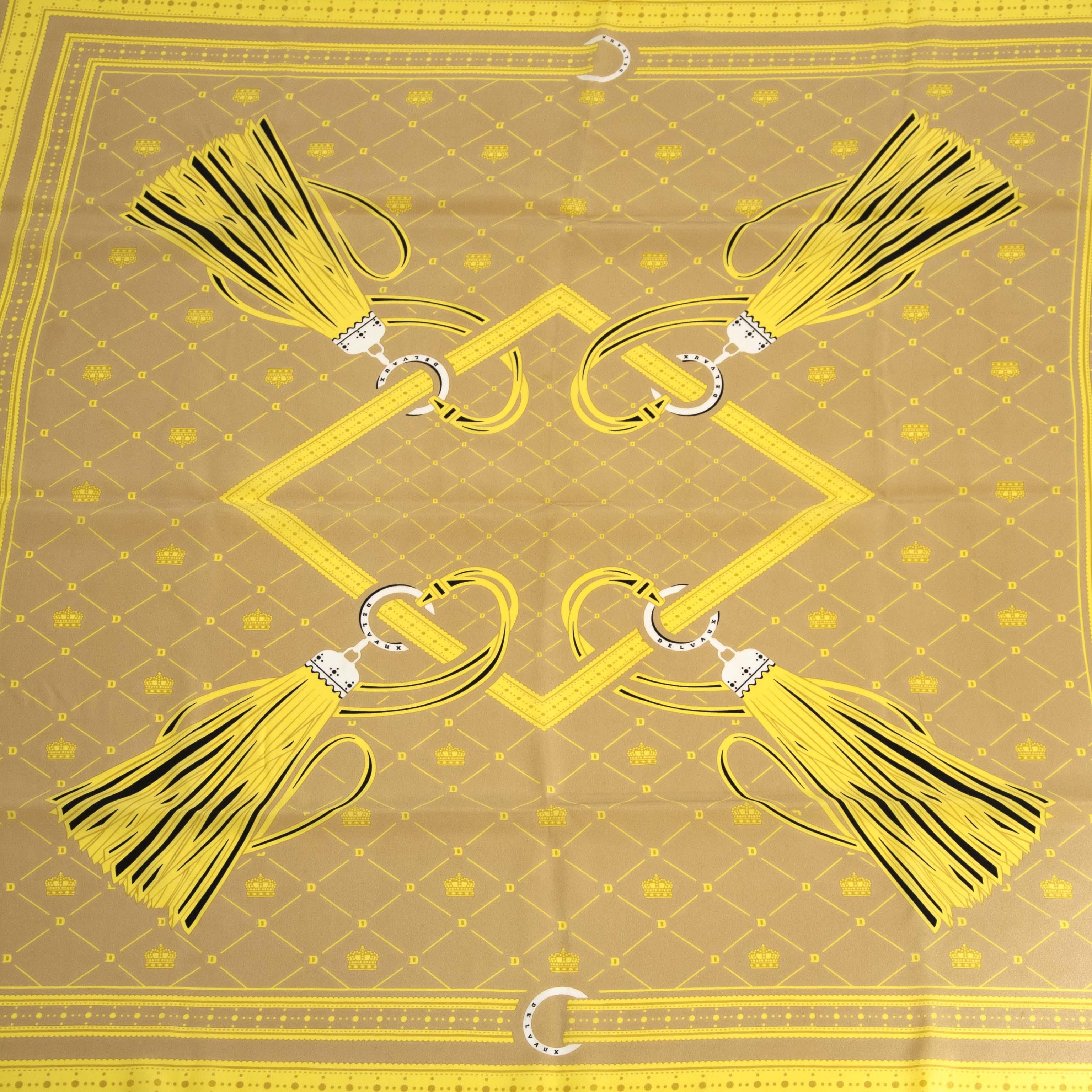 Authentique seconde main Delvaux Yellow Square Scarf achète en ligne webshop LabelLOV
