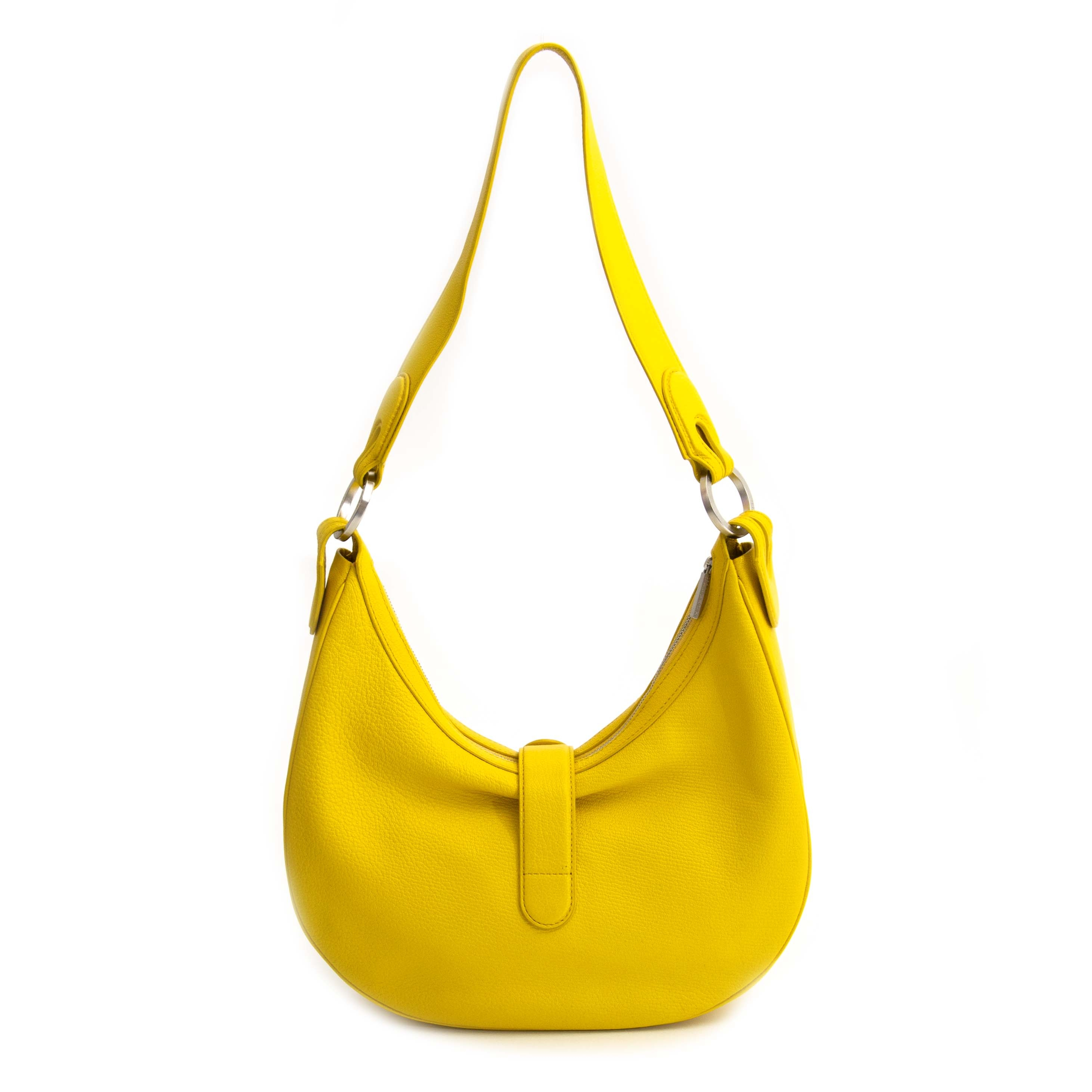 Delvaux Camille PM Chèvre Glacée Souple Yellow for the best price at Labellov