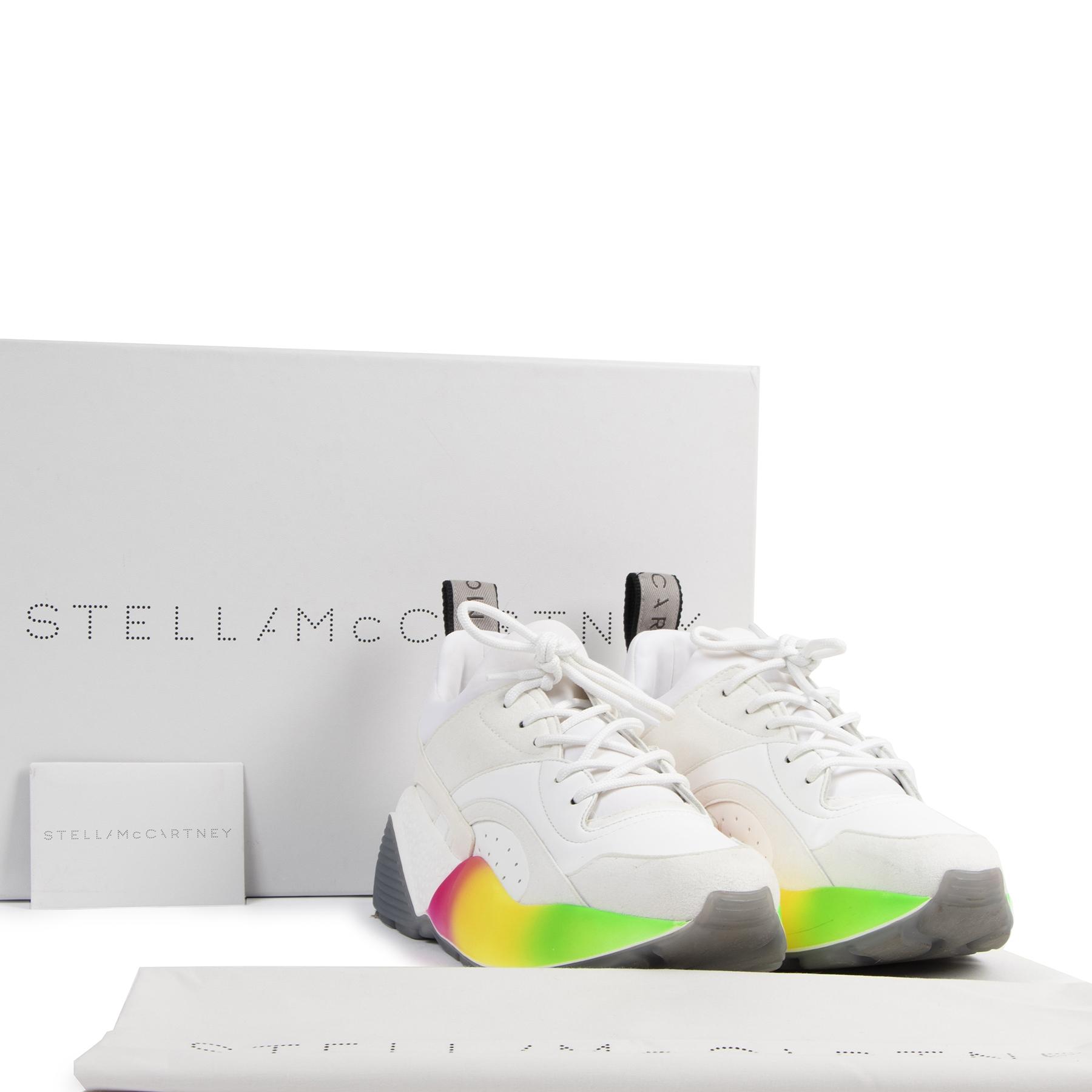 Authentieke Tweedehands Stella McCartney Eclypse Rainbow Sneakers - Size 37 juiste prijs veilig online shoppen luxe merken webshop winkelen Antwerpen België mode fashion