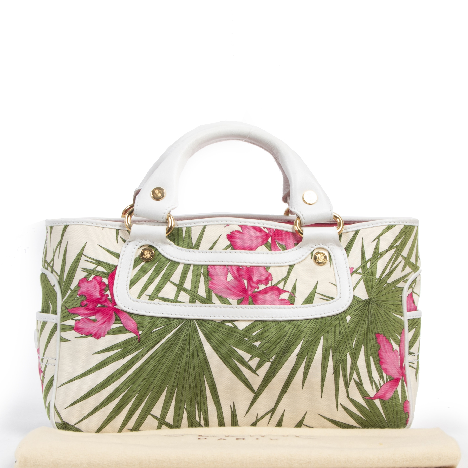 Authentic secondhand Celine Boogie Flower Bag designer bags fashion luxury vintage webshop safe secure online shopping