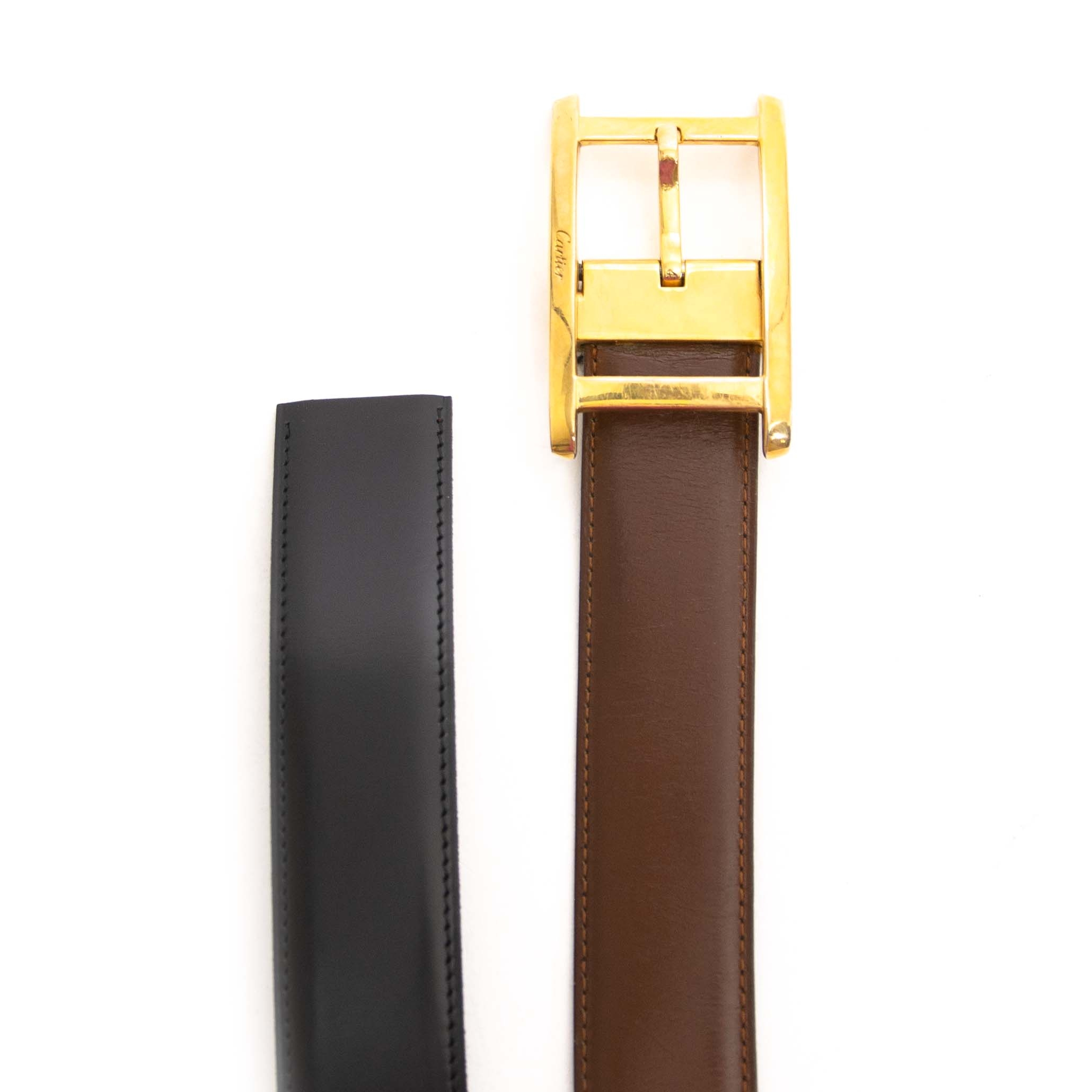 Cartier Reversible Leather Belt Set