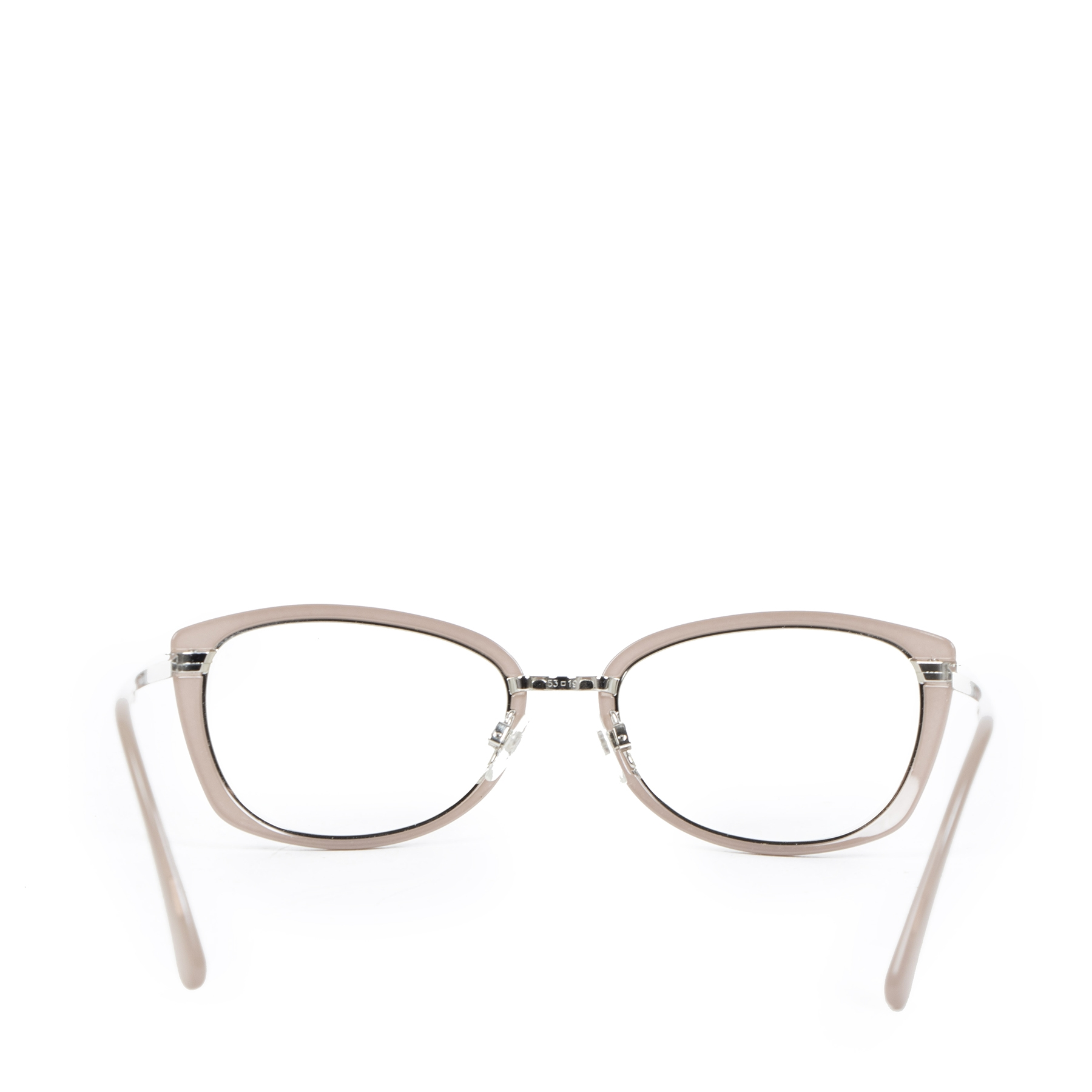 Authentic secondhand Chanel Dusty Pink Cat Eye Eyeglasses designer accessories designer brands fashion luxury vintage webshop safe secure online shopping worldwide shipping delivery