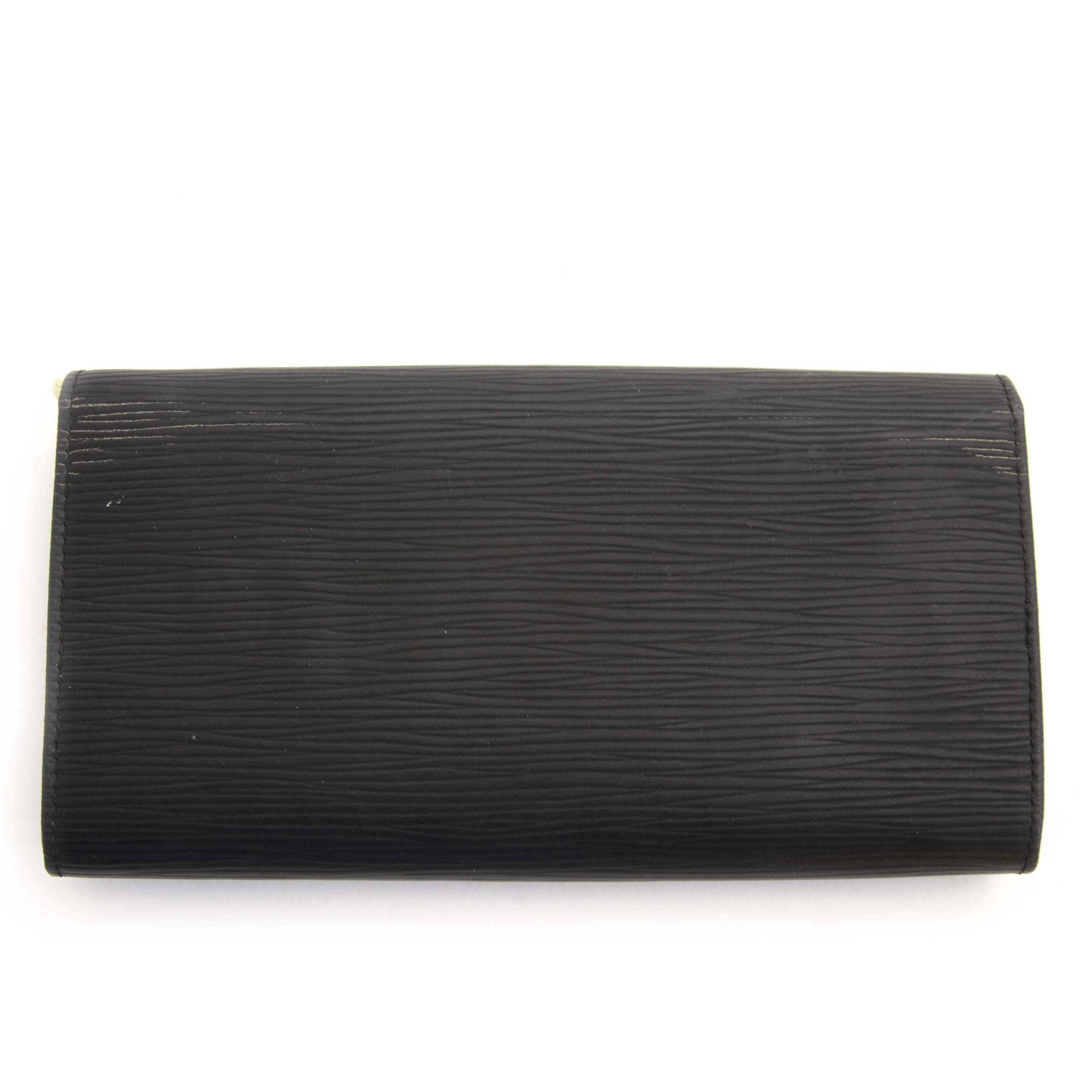 Authentique seconde main Louis Vuitton Epi Sarah Wallet Black achète en ligne webshop LabelLOV
