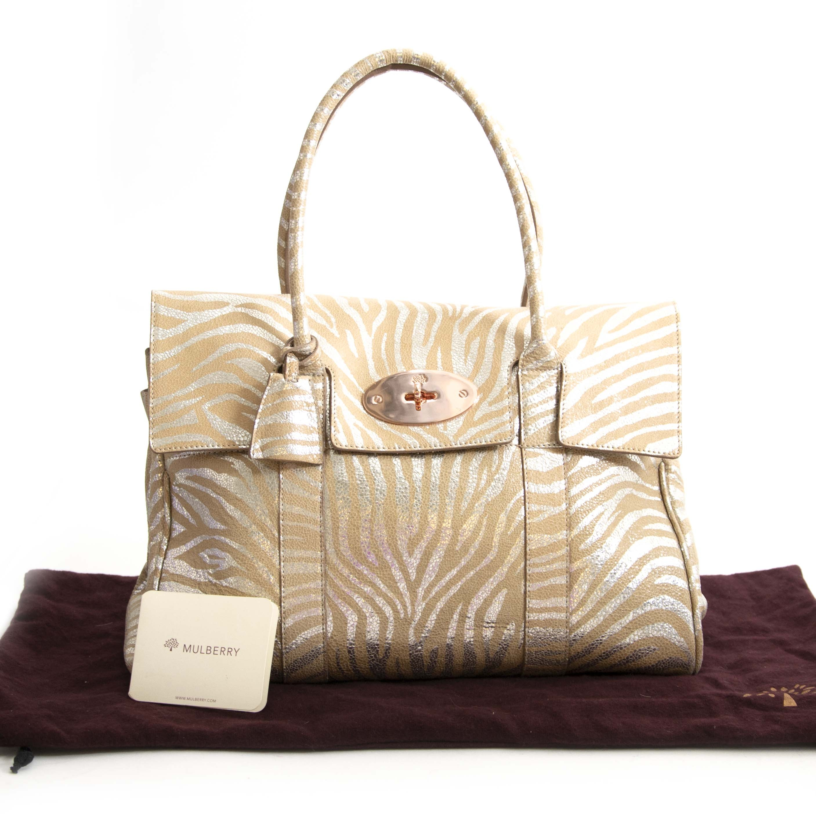 712708c4d9d Buy this authentic second hand vintage Mulberry Bayswater Metallic Tiger  Bag at online webshop LabelLOV.