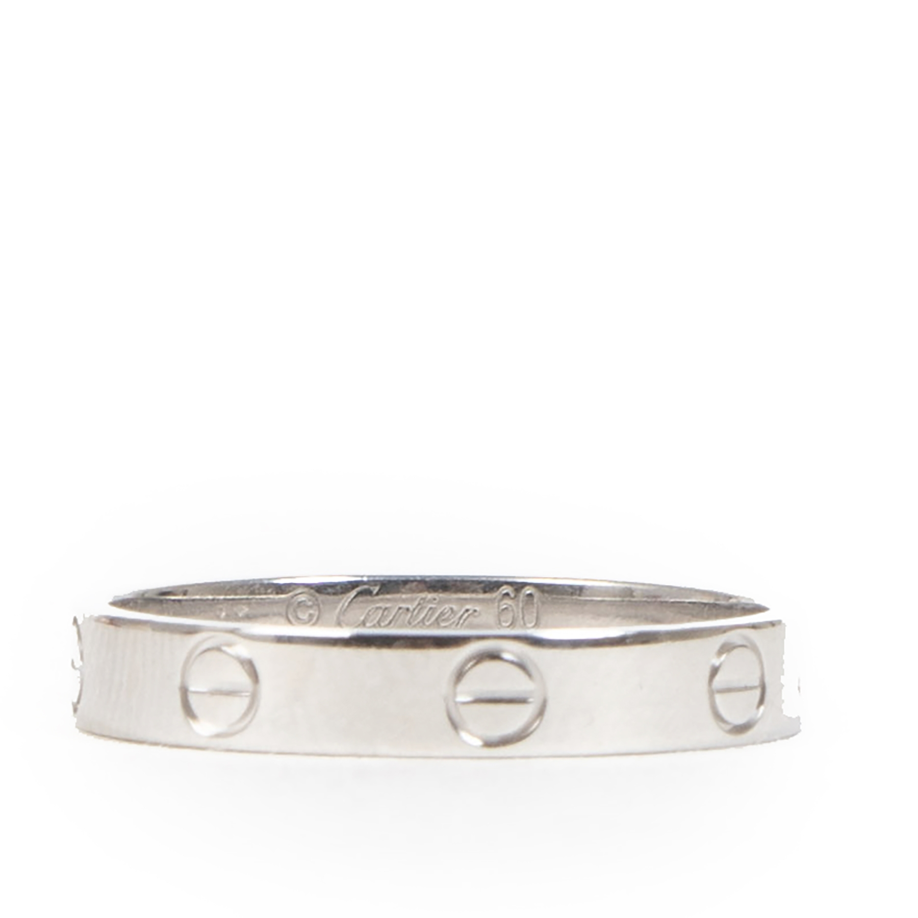 Cartier Platine Alliance Love Ring - Size 60