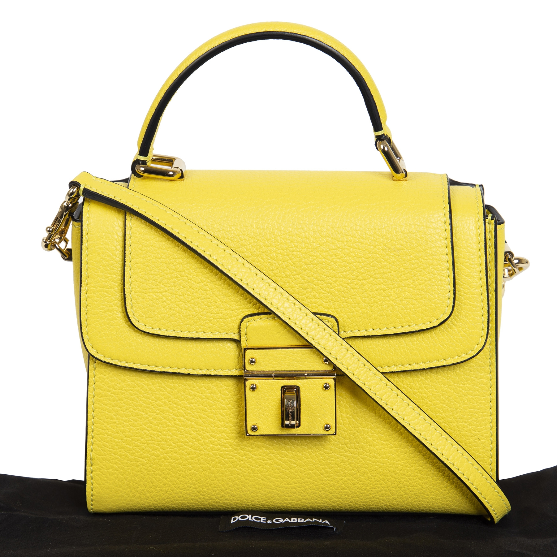 Dolce & Gabbana Altezza Lemon Yellow Bag for the best price online at Labellov