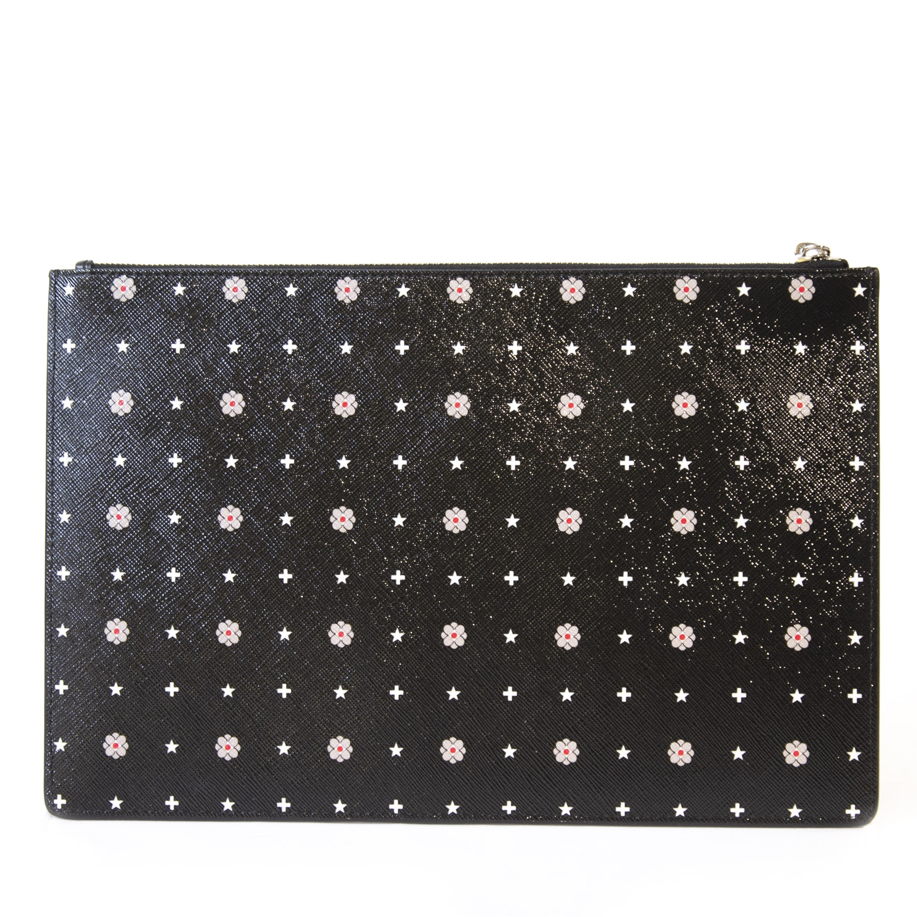 Authentieke tweedehands vintage Givenchy Floral Pouch  koop online webshop LabelLOV