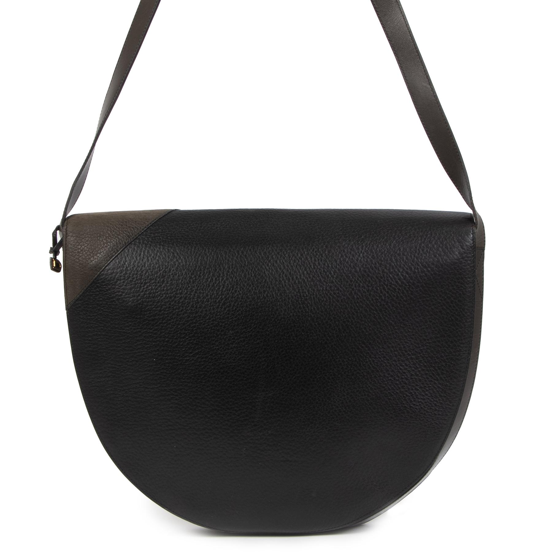 Authentieke Tweedehands Delvaux Dark Blue Leather Shoulder Bag juiste prijs veilig online shoppen luxe merken webshop winkelen Antwerpen België mode fashion