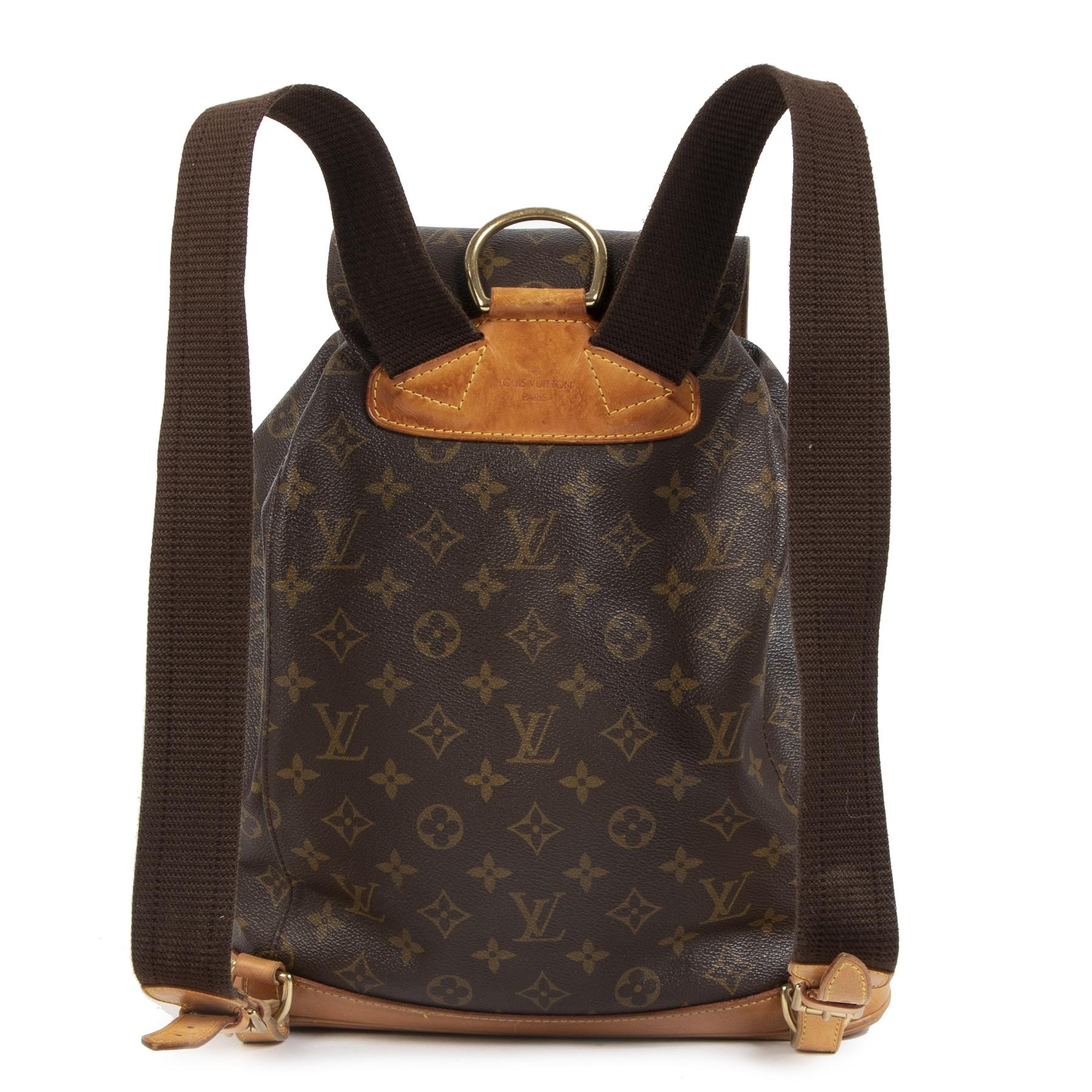 Authentieke Tweedehands ouis Vuitton Monogram Montsouris GM Backpack juiste prijs veilig online shoppen luxe merken webshop winkelen Antwerpen België mode fashion