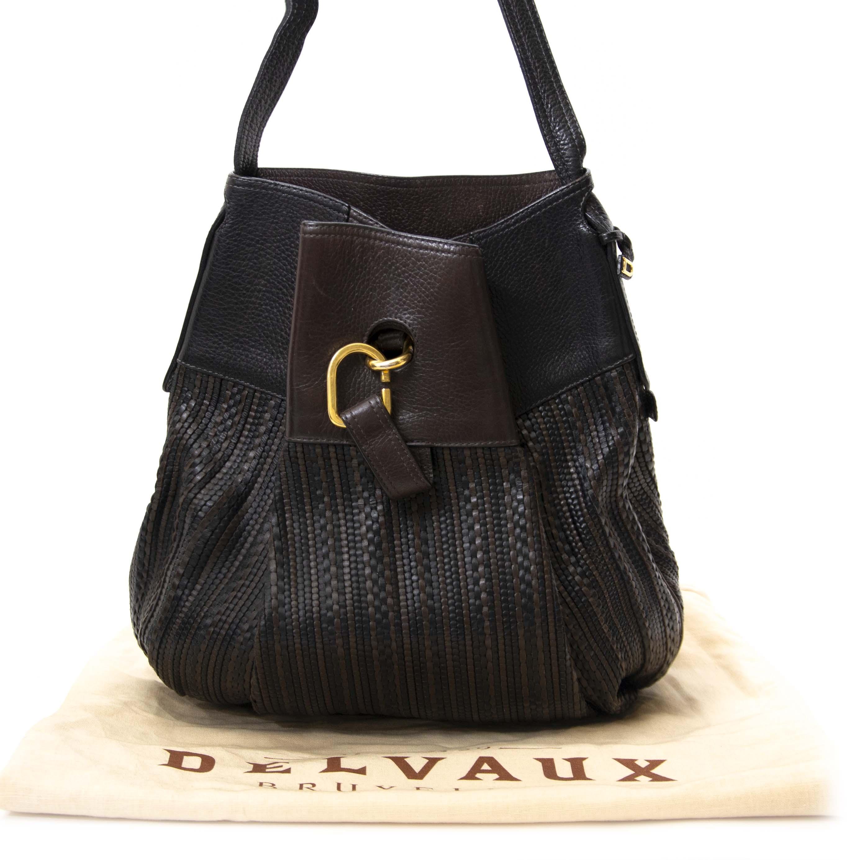 99dcae9d32a2e Safe online shopping Delvaux Brown Toile De Cuir Bag Buy secondhand Delvaux  handbags at Labellov. Safe online shopping